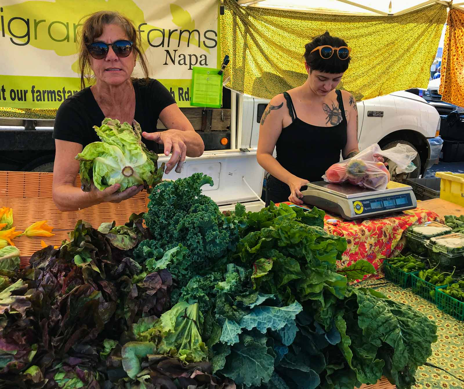 At the Farmers Market