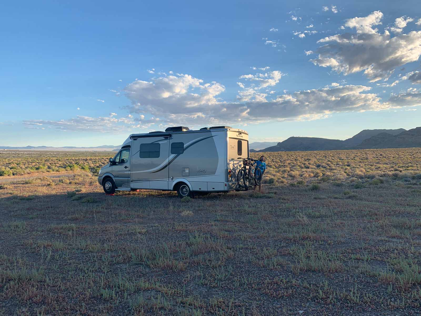 Home for the night at the Salt Flats BLM land