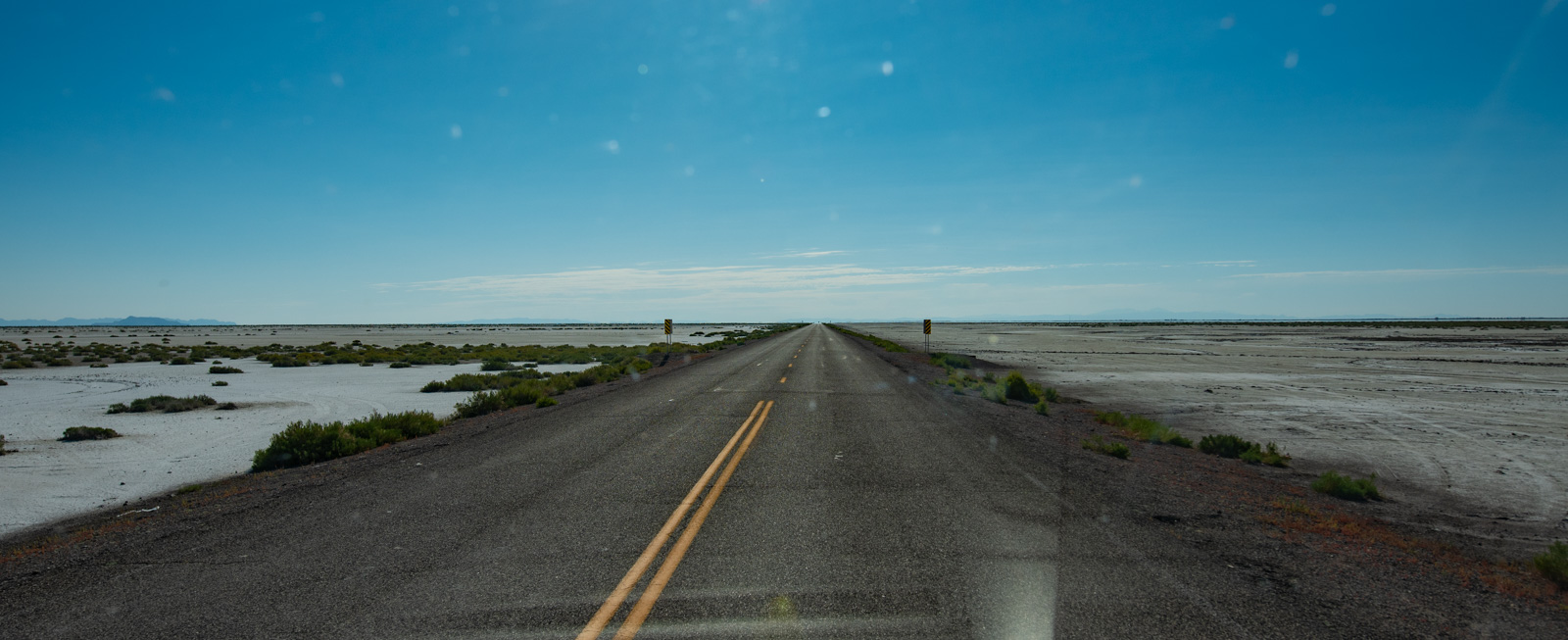 Road to nowhere, salt flats