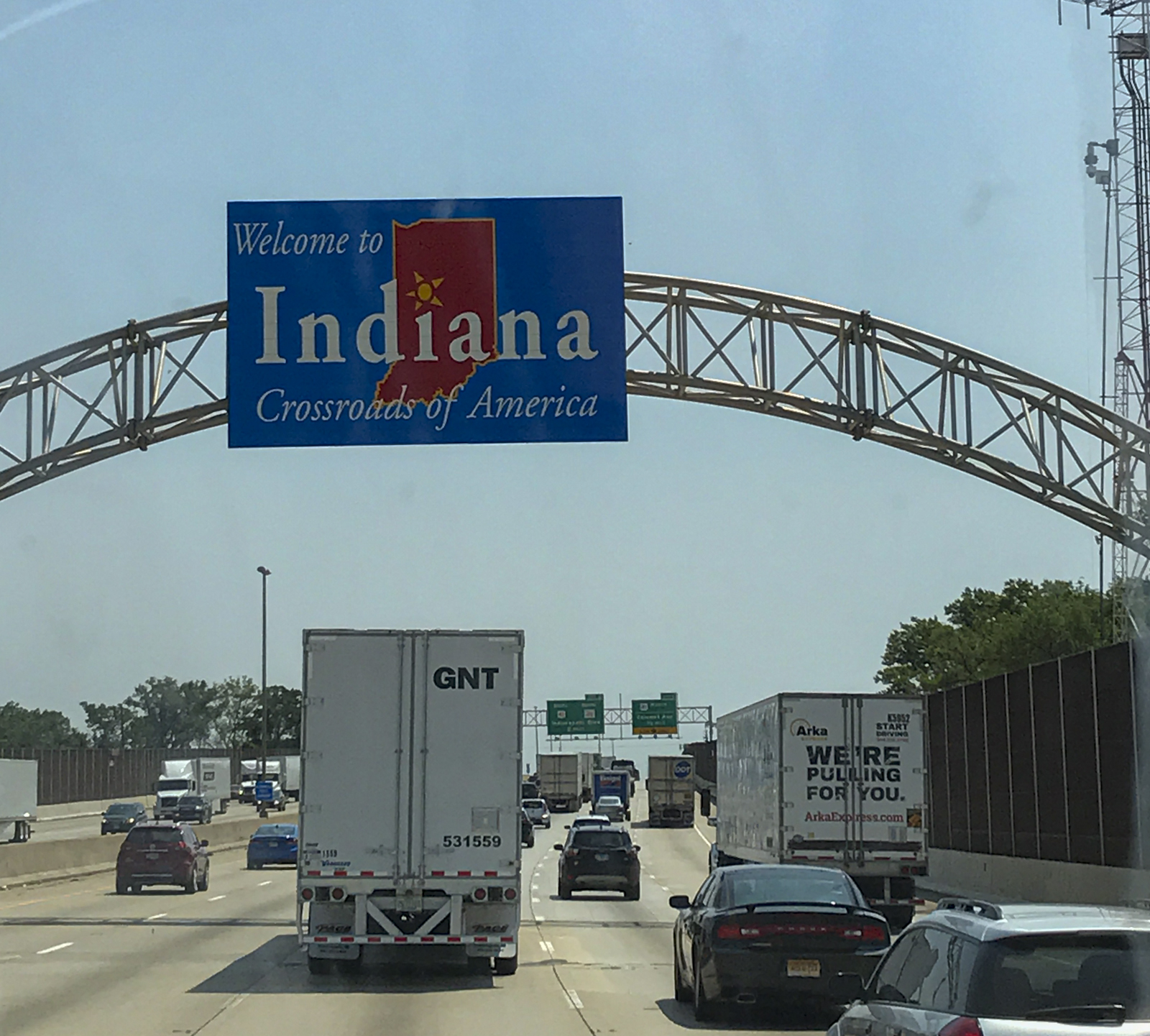 Indiana, another state line