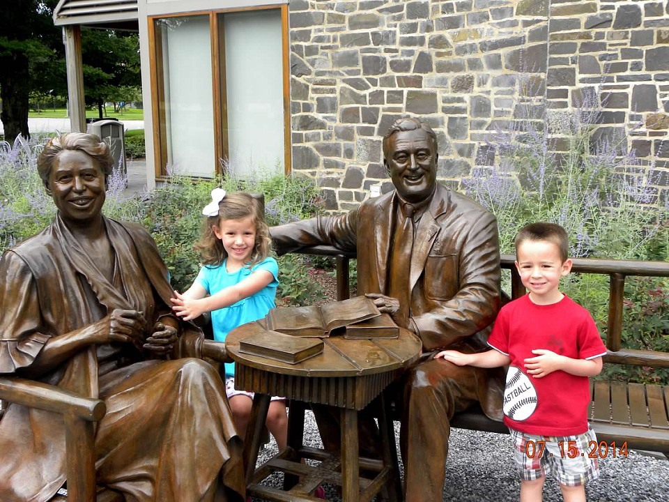 "My children ""hanging out"" with Franklin and Eleanor Roosevelt"