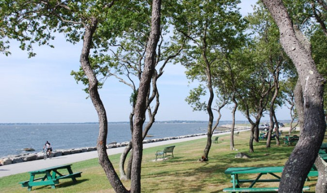 A view of Mount Hope Bay from Colt Sate Park.