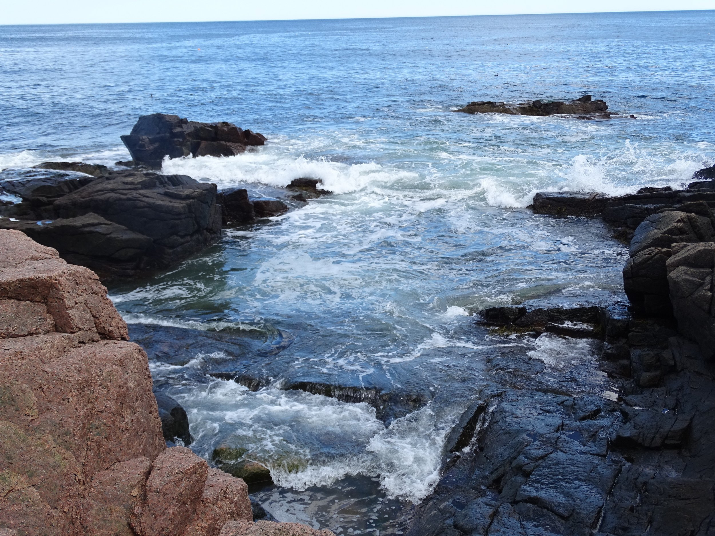 Thunder Hole just past high tide.