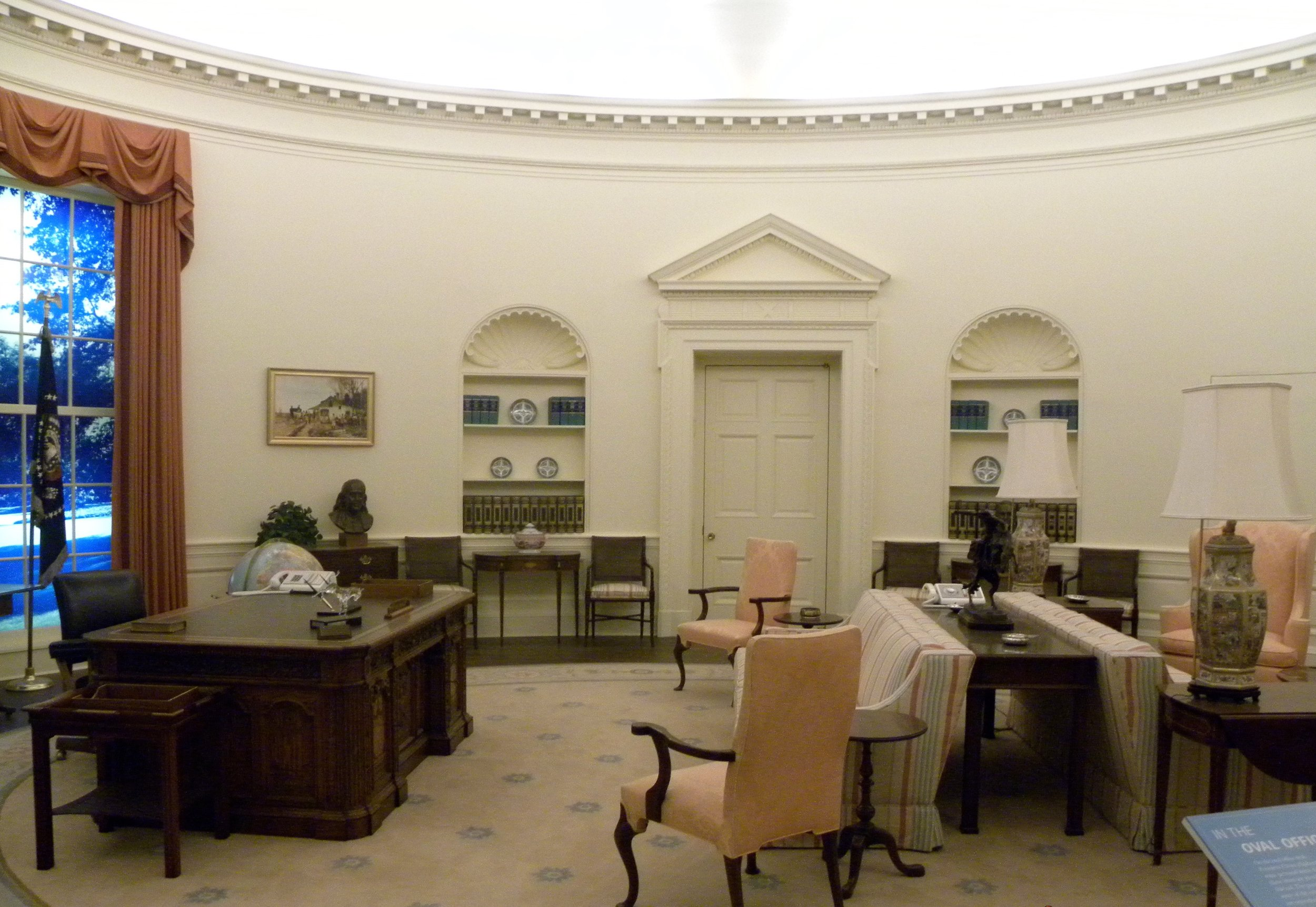 A replica of Jimmy Carter's Oval Office.