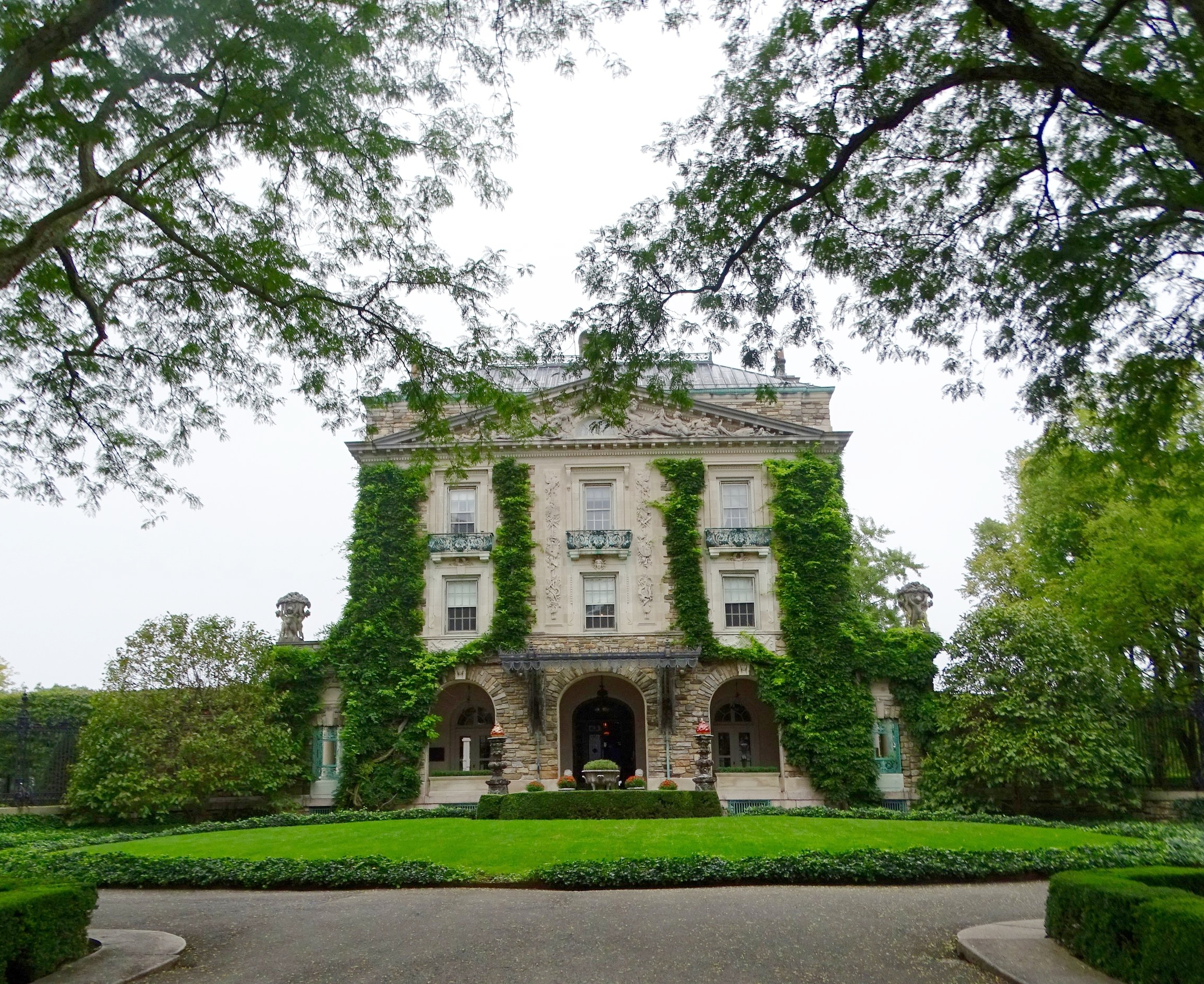 The front entrance to Kykuit.
