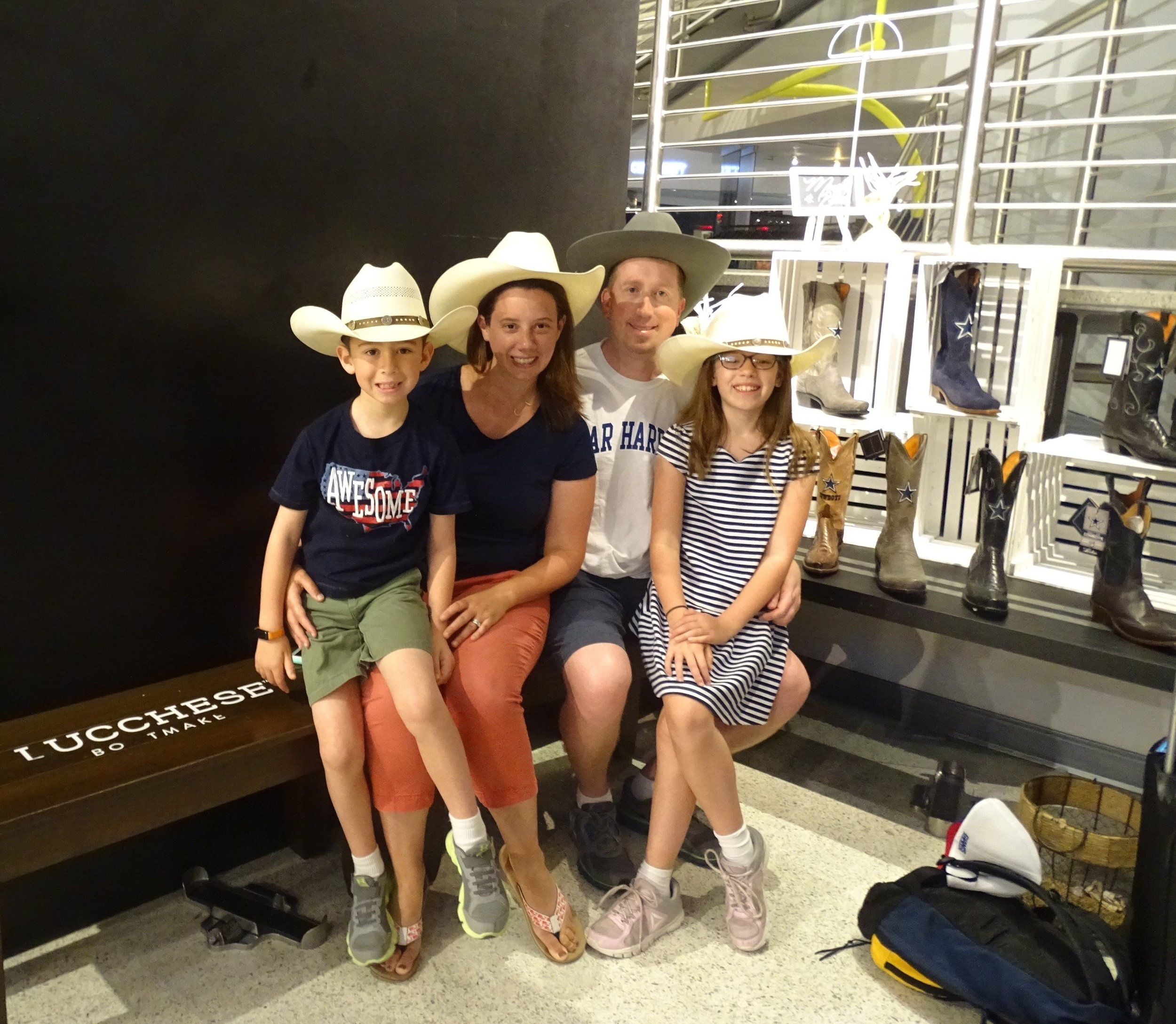 When in Dallas, we had to sport cowboy hats!