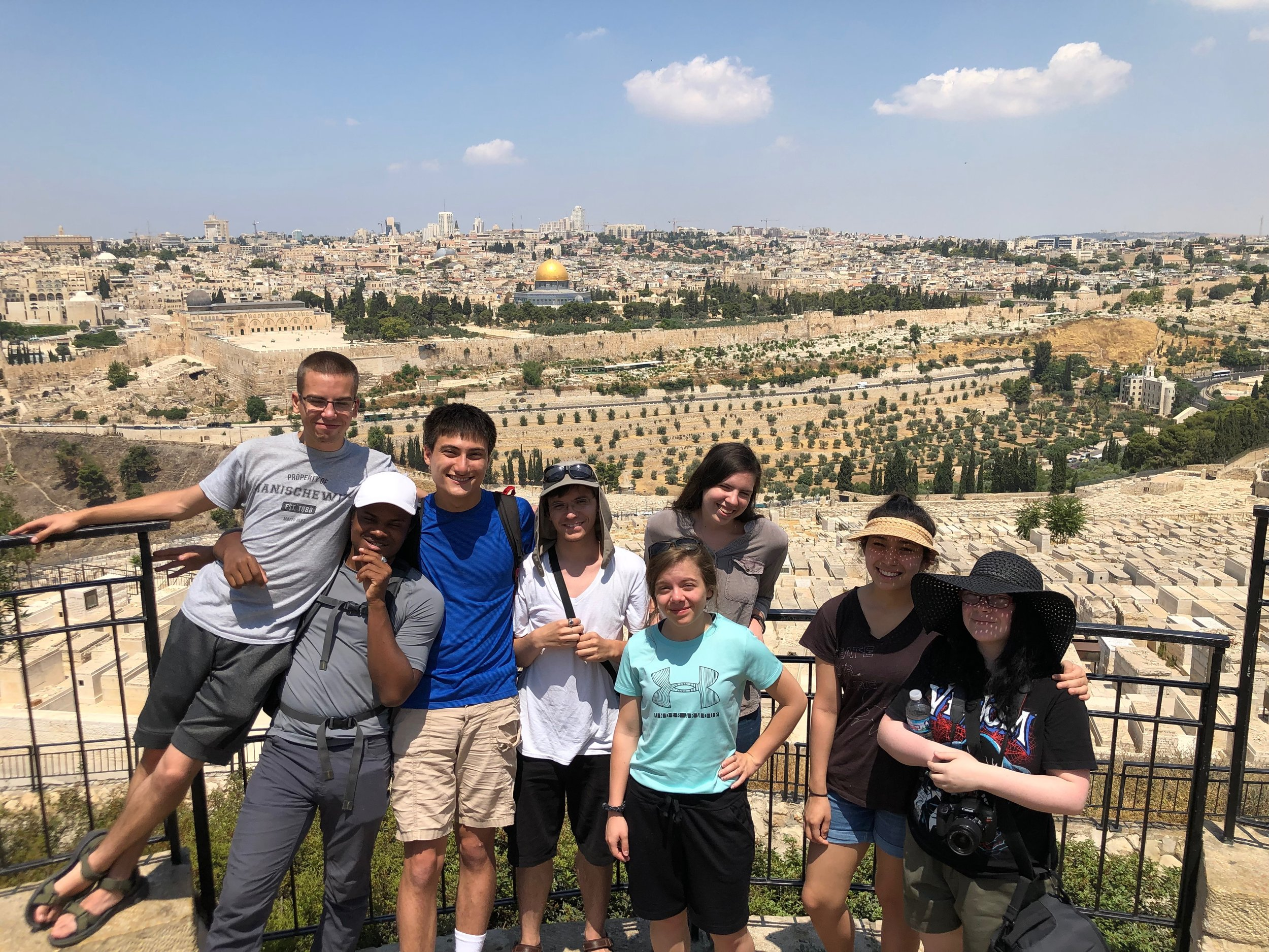 Seeing Jerusalem from the Mount of Olives - HYIA 2019 Team
