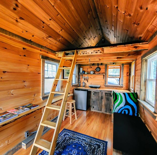 The interior of the tiny house