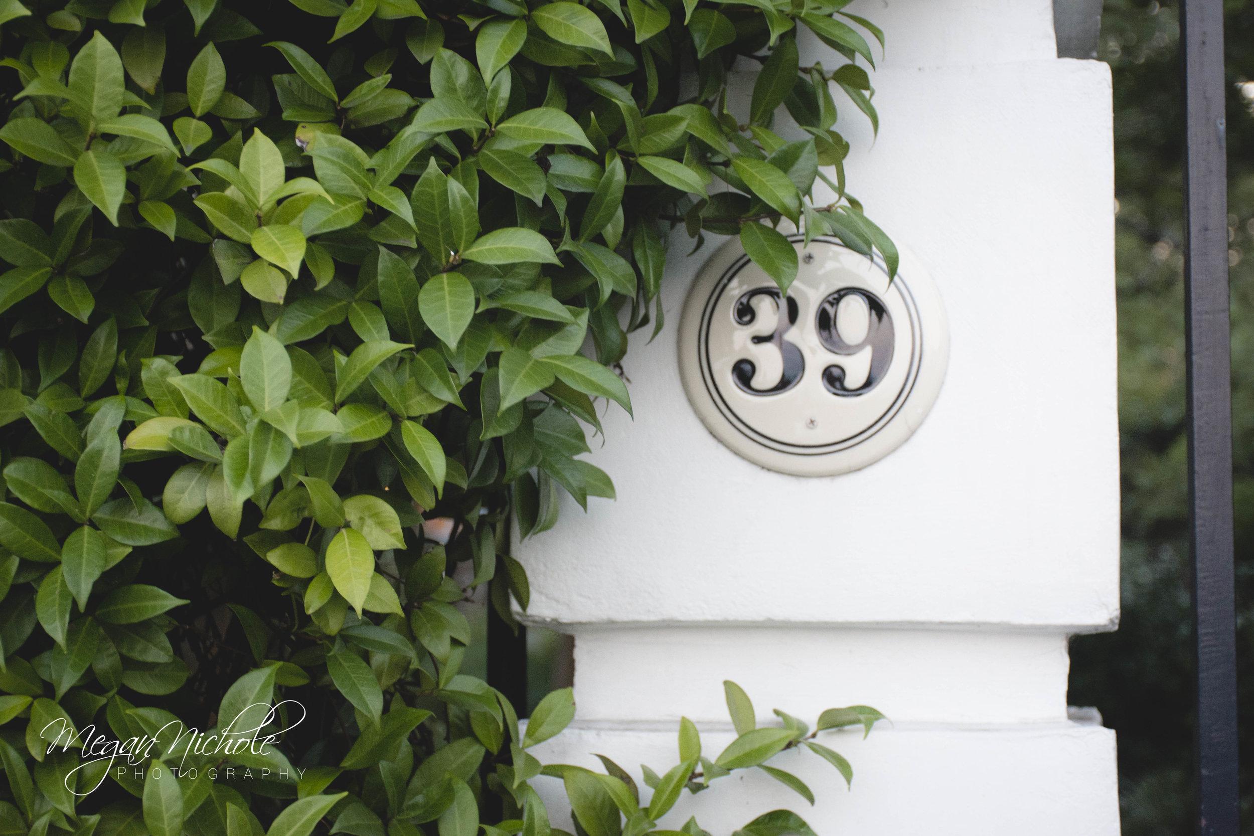 Charleston home house numbers
