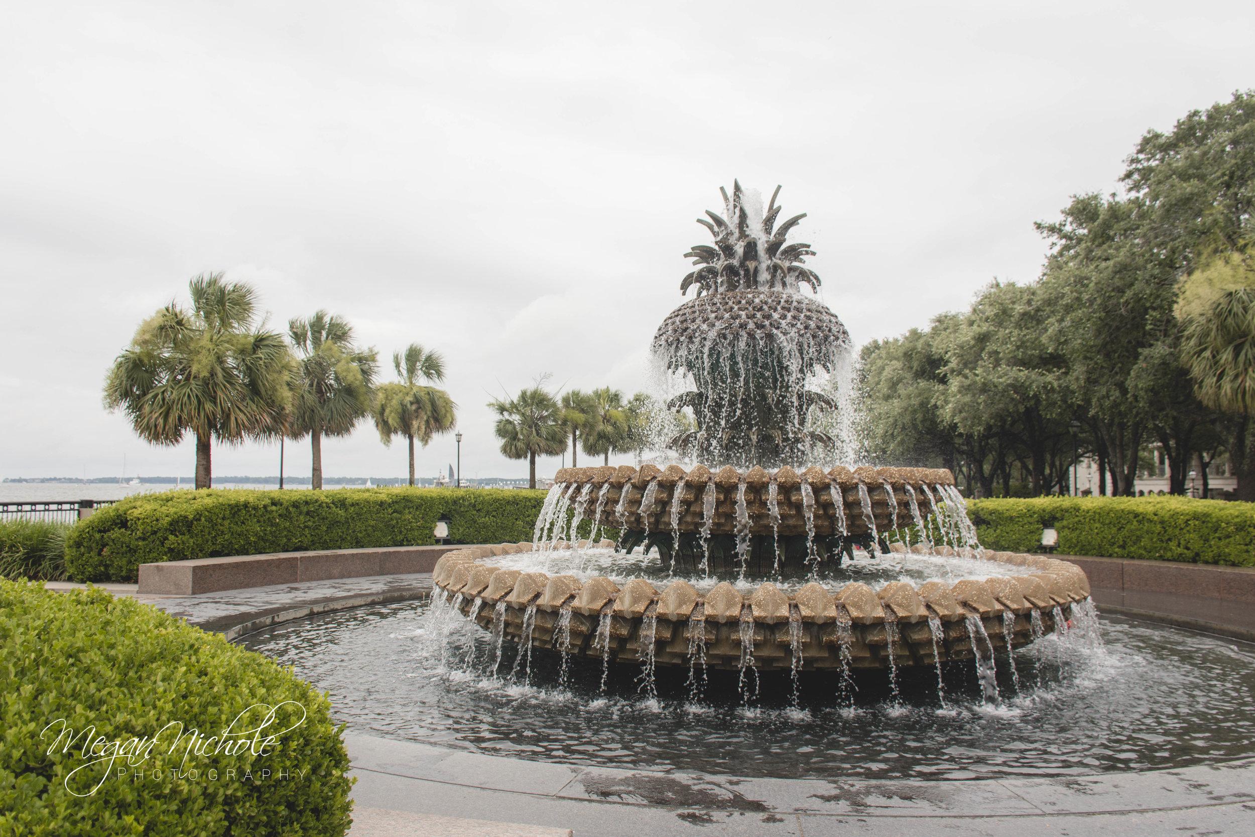 Charleston, South Carolina Waterfront Park Pineapple Fountain
