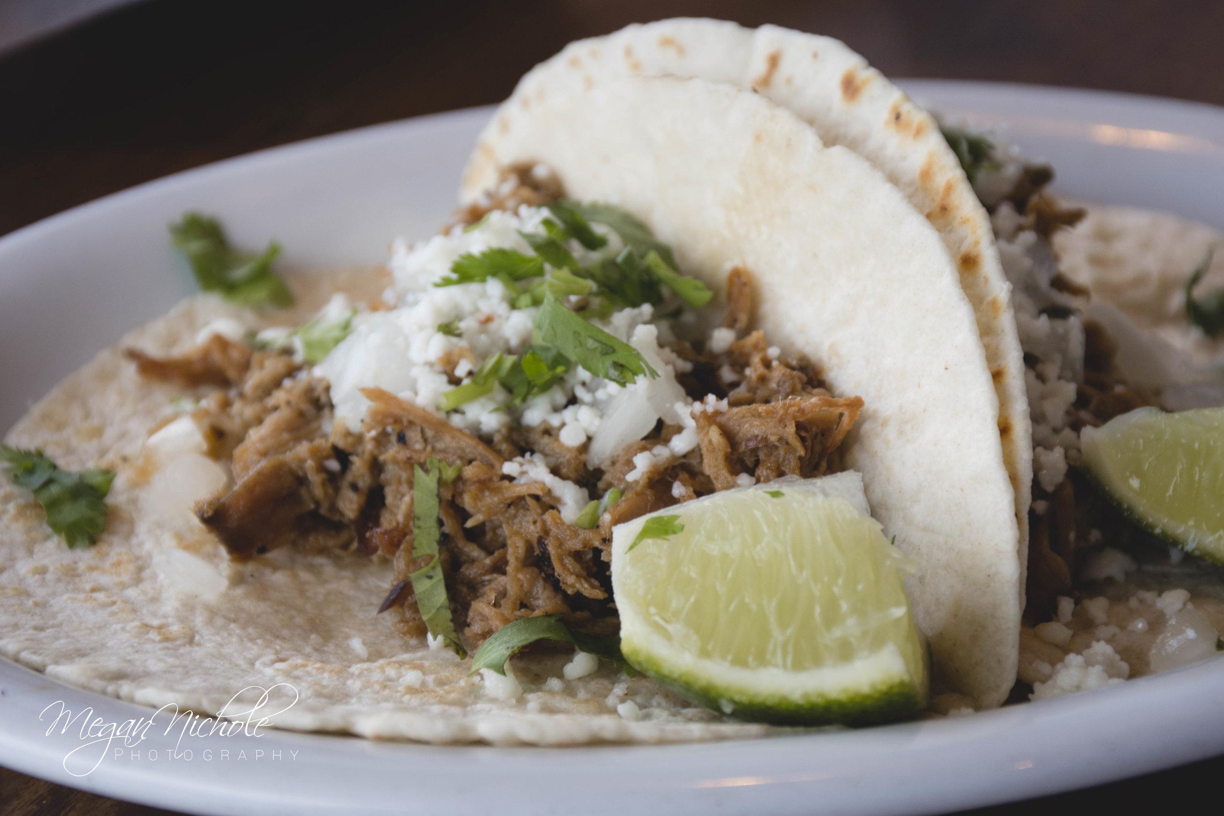 Mex One pork tacos carnitas