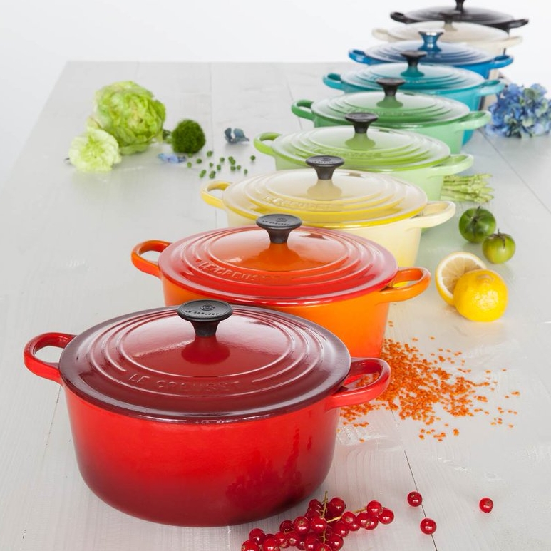 Le Creuset - You may know Le Creuset for their iconic brightly colored French Ovens, but they are so much more. Le Creuset features their signature color palette on cookware, bakeware, tableware and so much more.