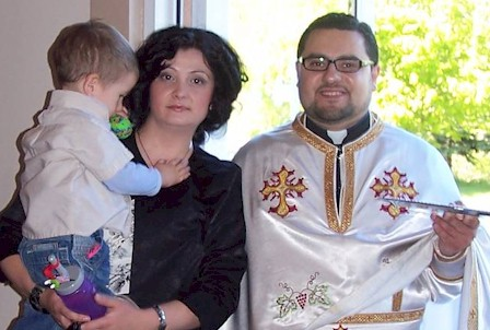 Rev. Andreja Damjanovski, Anica and son Luka