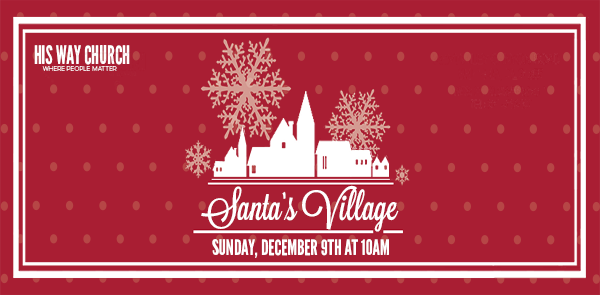 Santa's Village - Friends, families, and neighbors are all welcome to Santa's Village, Sunday December 9th at 10am. We will have lunch, pony rides, a petting zoo, games, crafts, music and much more. Come and take pictures with Santa and his elf. Food and drinks are free for everyone. So come and have a great time with us, Merry Christmas!