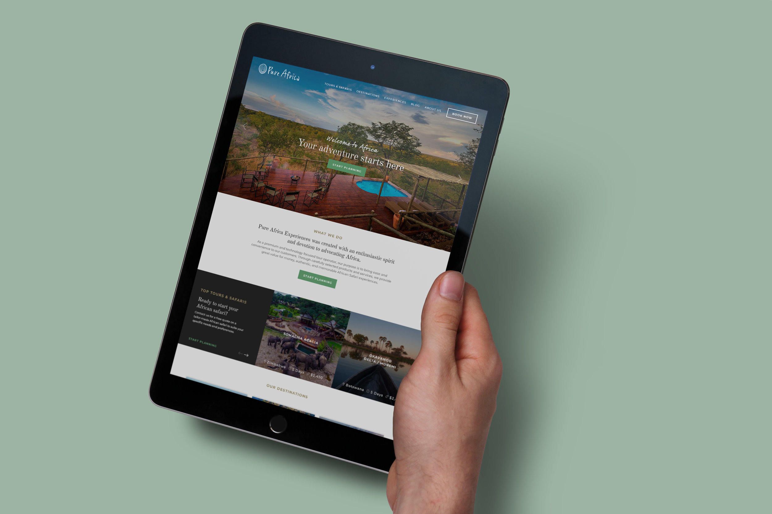 Pure Africa Experiences Homepage