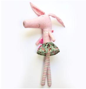 Pink Nounou Pig in Tutu Ballerina