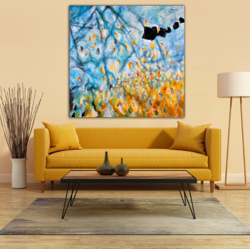 Painting Color Abstracts Oil Canvas