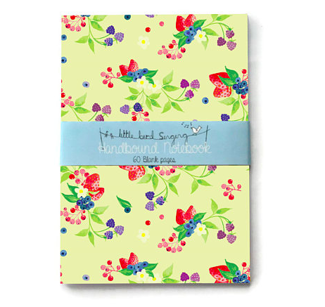 Little travel journal handmade floral