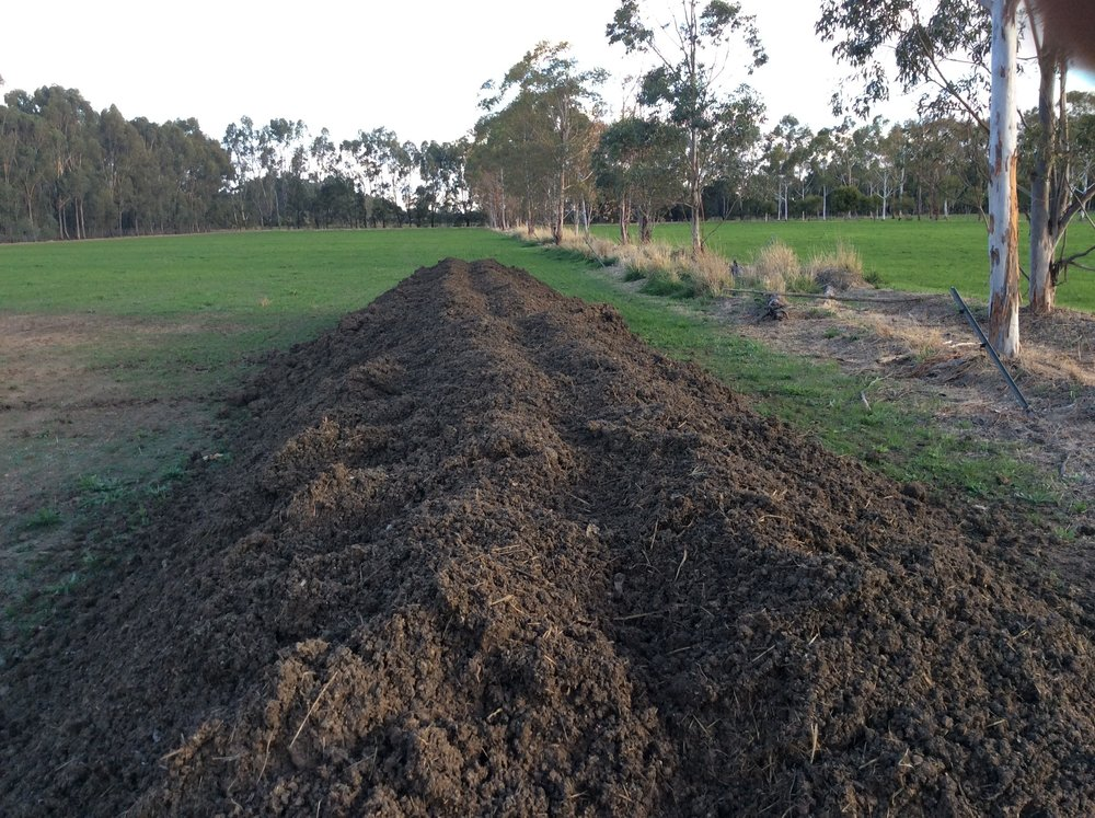 Demeter Biodynamic Static Compost heap. No turning required.