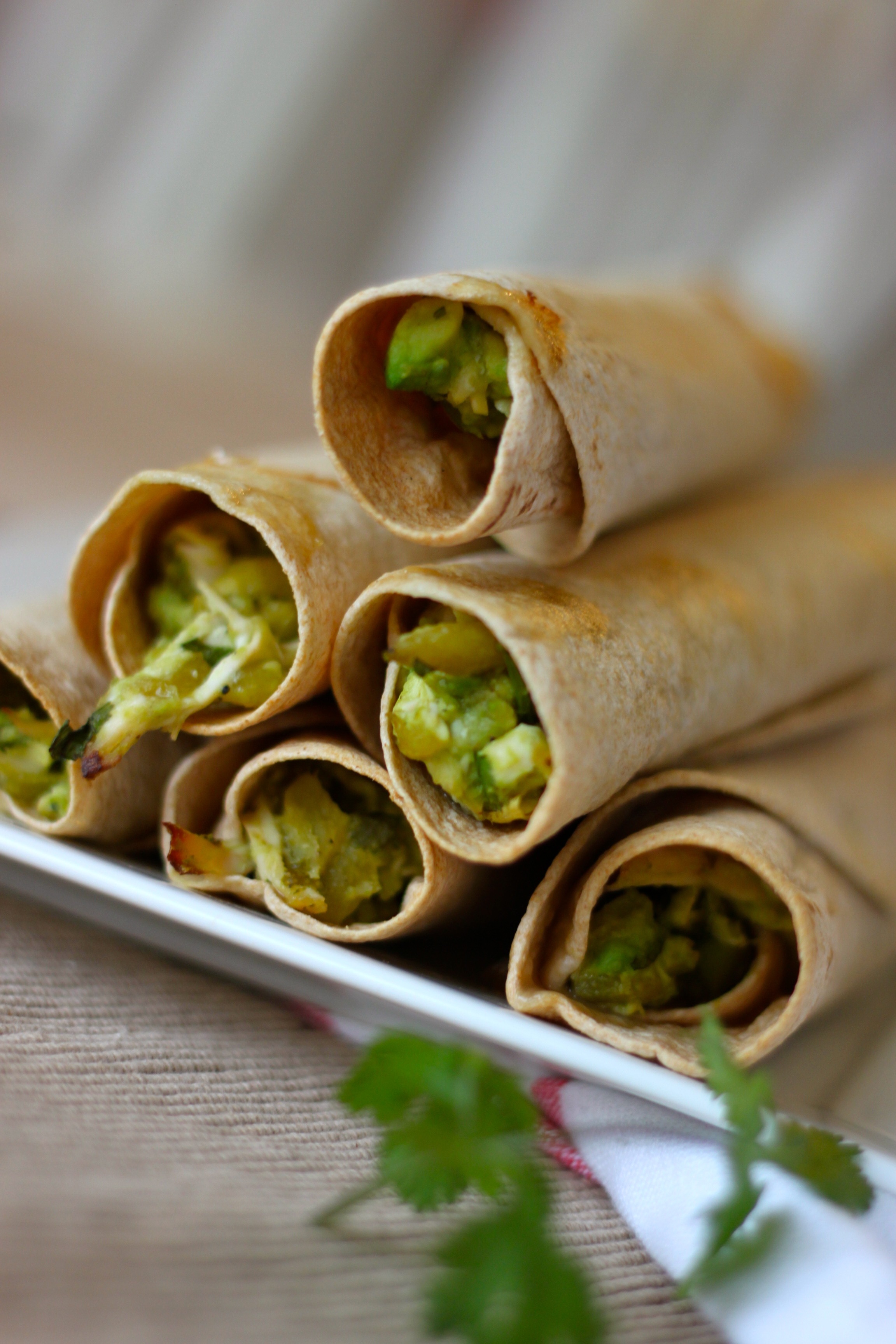 Creamy Avocado Taquitos from The Diva Dish, http://thediva-dish.com
