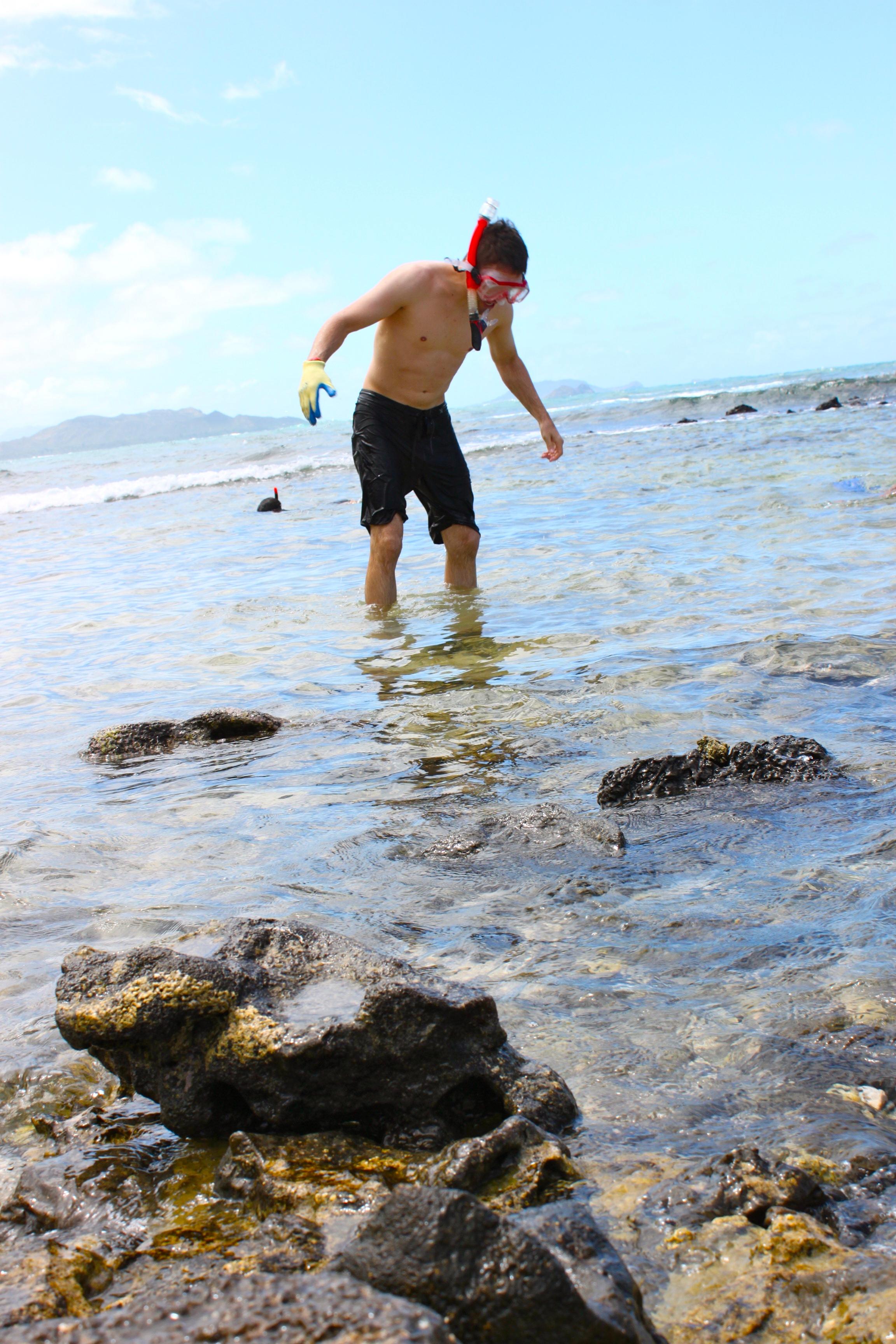 snorkeling hottie