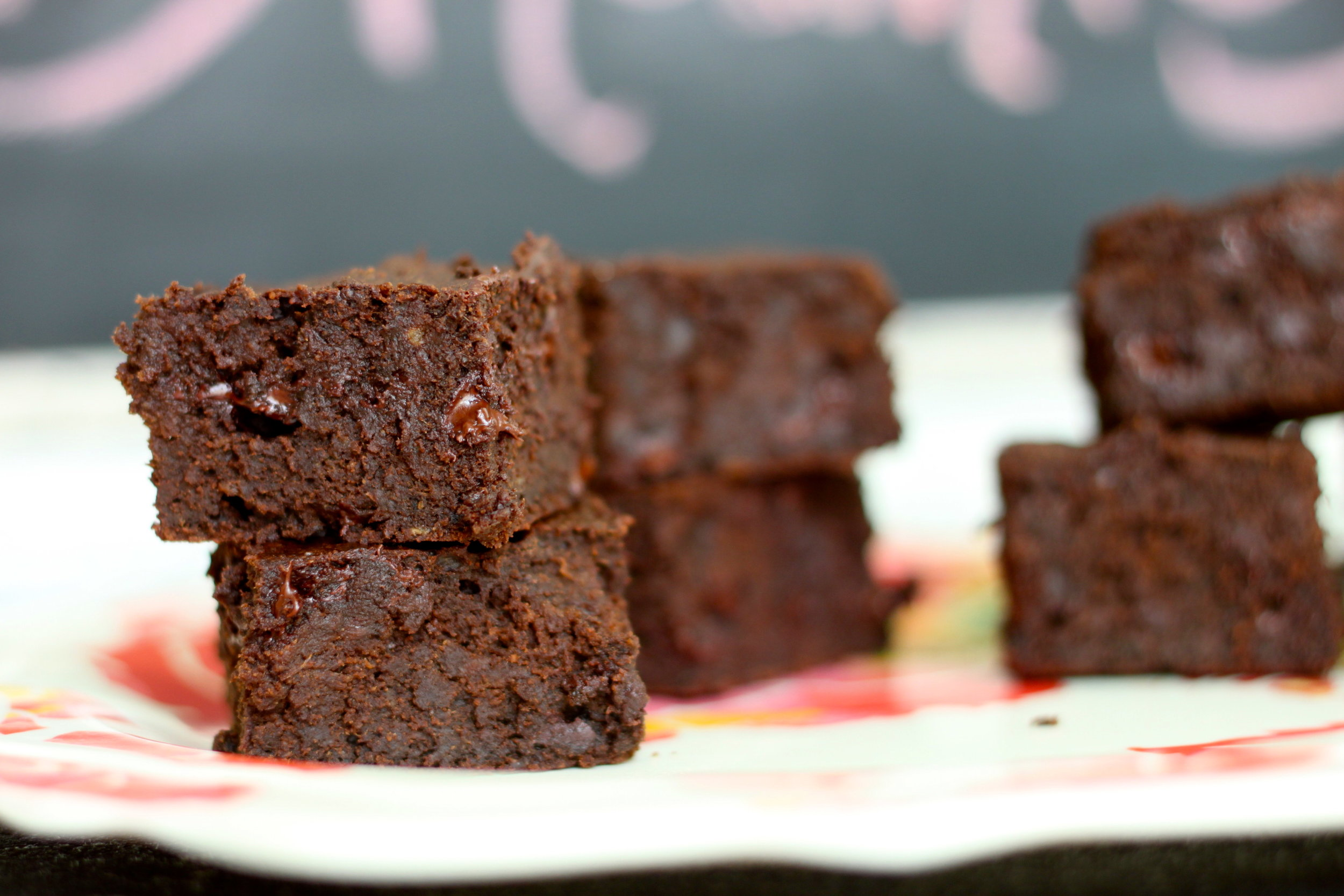 Fudge Brownies (Healthy, All Natural Sugars, Whole Grain) From Ari @ The Diva Dish