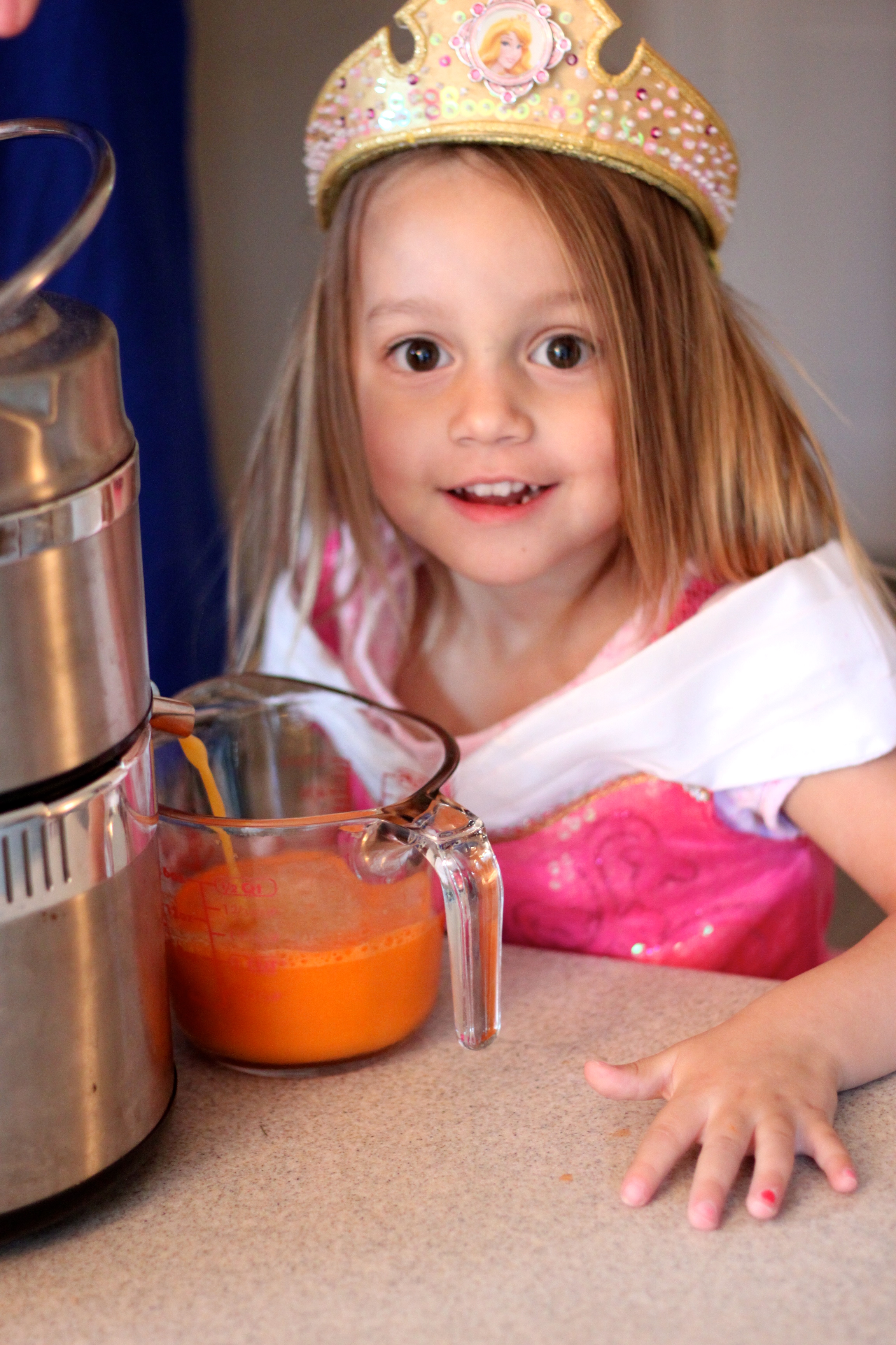 Orange Carrot Juice-Perfect for your kids to balance out those Halloween Goodies! from The Diva Dish