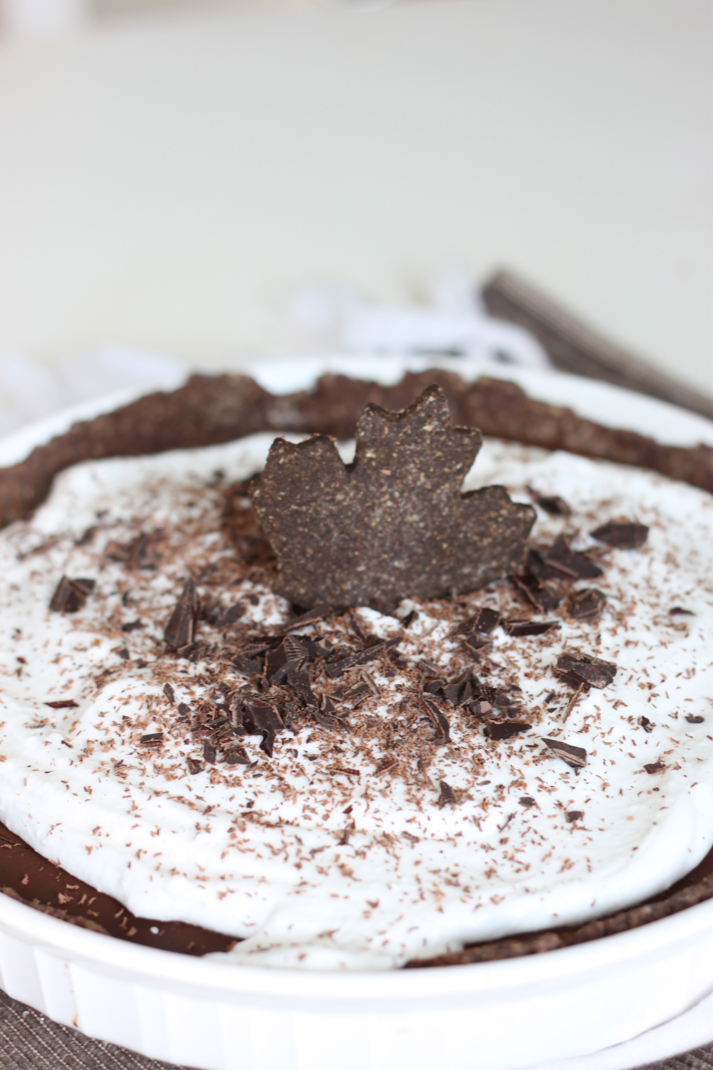 Vegan Chocolate Pudding Pie-from The Diva Dish
