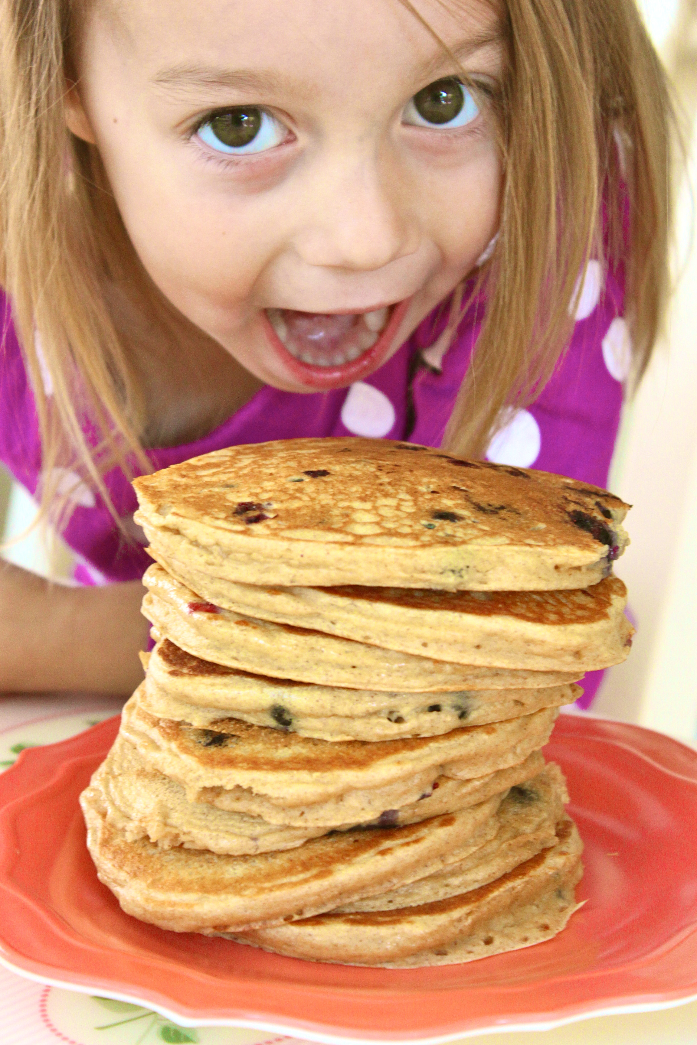 Blueberry Greek Yogurt Pancakes via http://thediva-dish.com