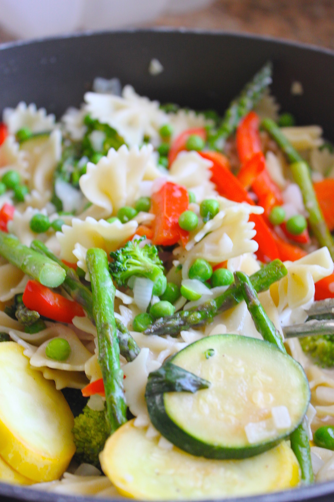Lightened Up Pasta Primavera, The Diva Dish