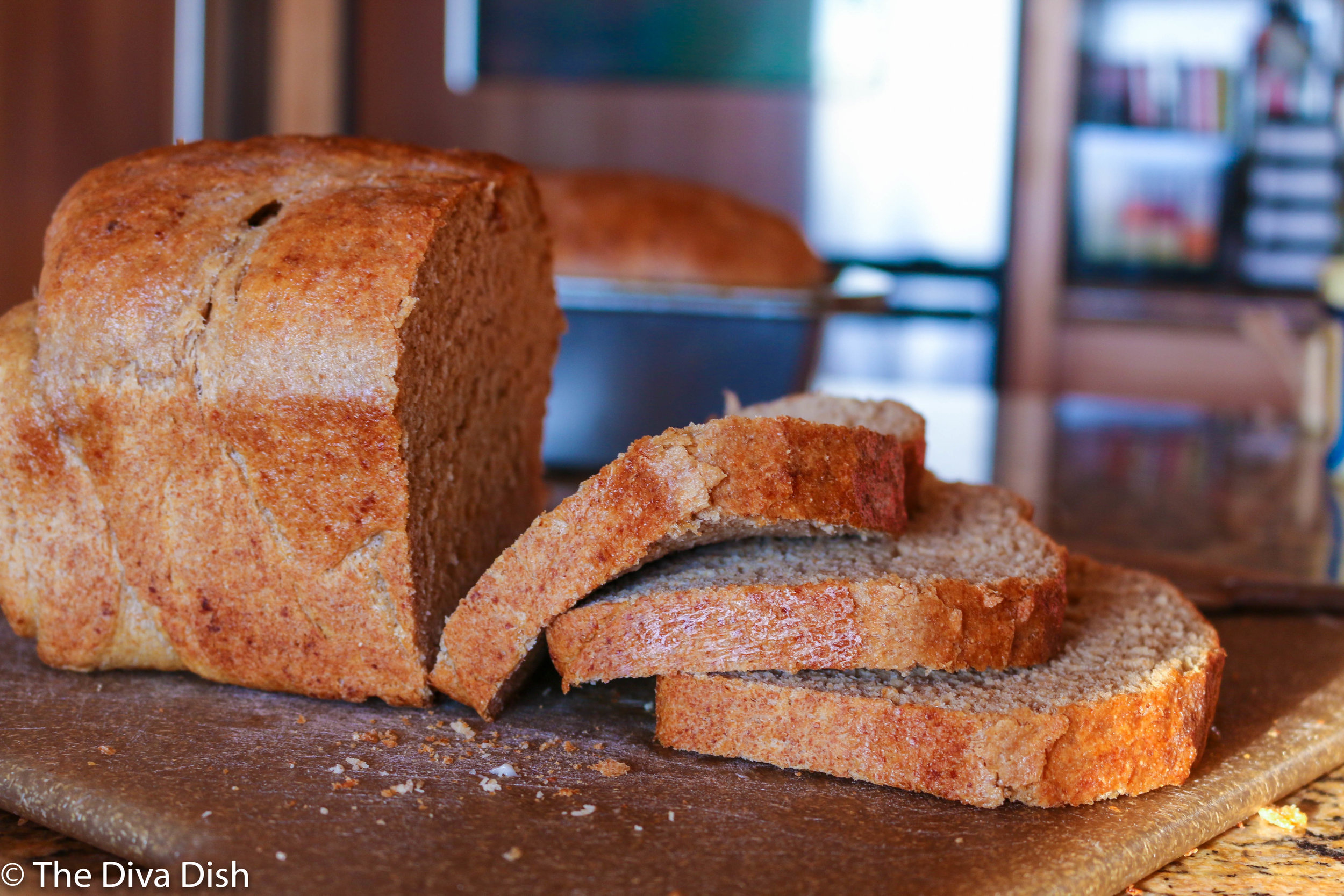 Homemade Whole Wheat Sandwich Bread via The Diva Dish