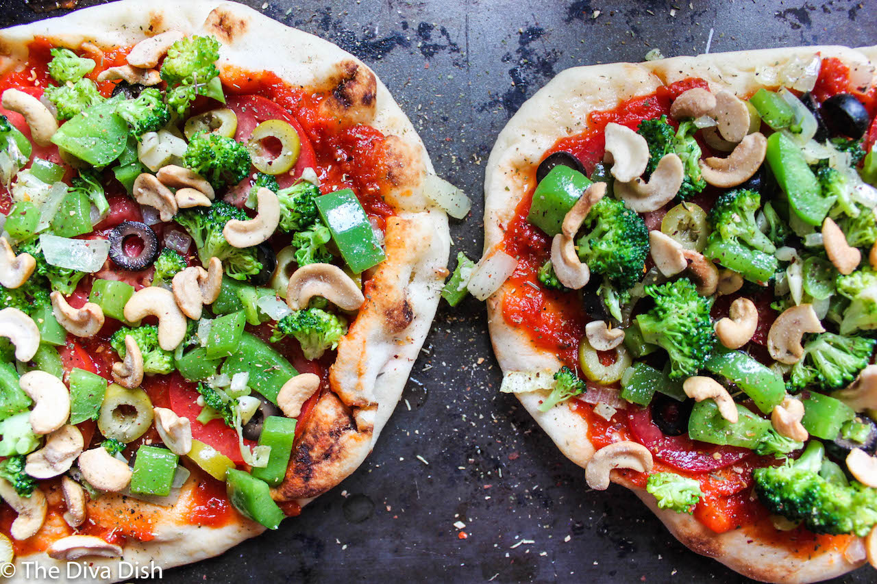 My Favorite Vegetarian Pizza via The Diva Dish