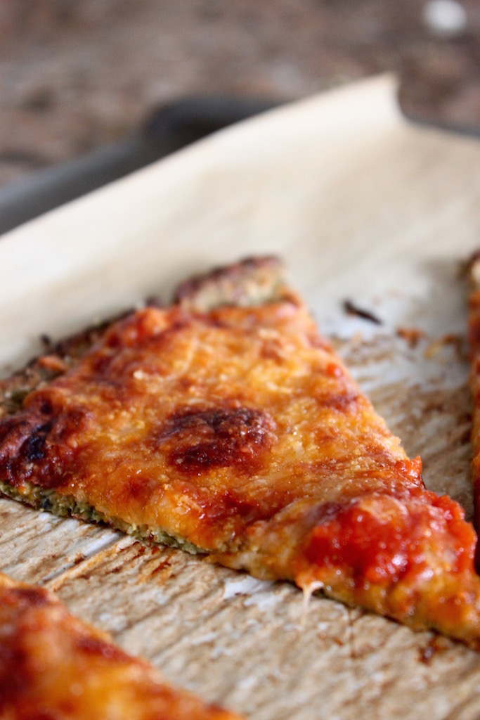 Broccoli Cauliflower Pizza Crust via The Diva Dish