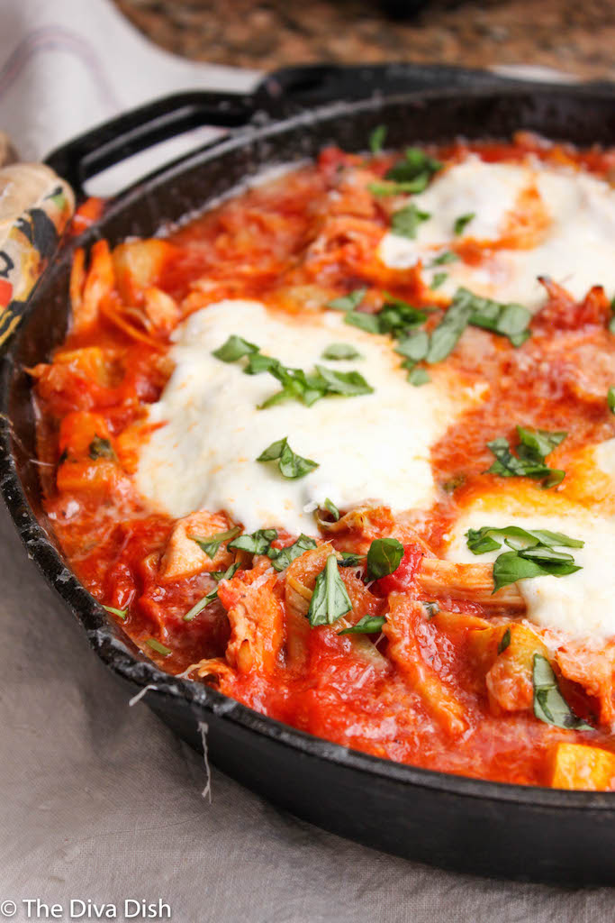 Skillet Chicken Marinara Dish
