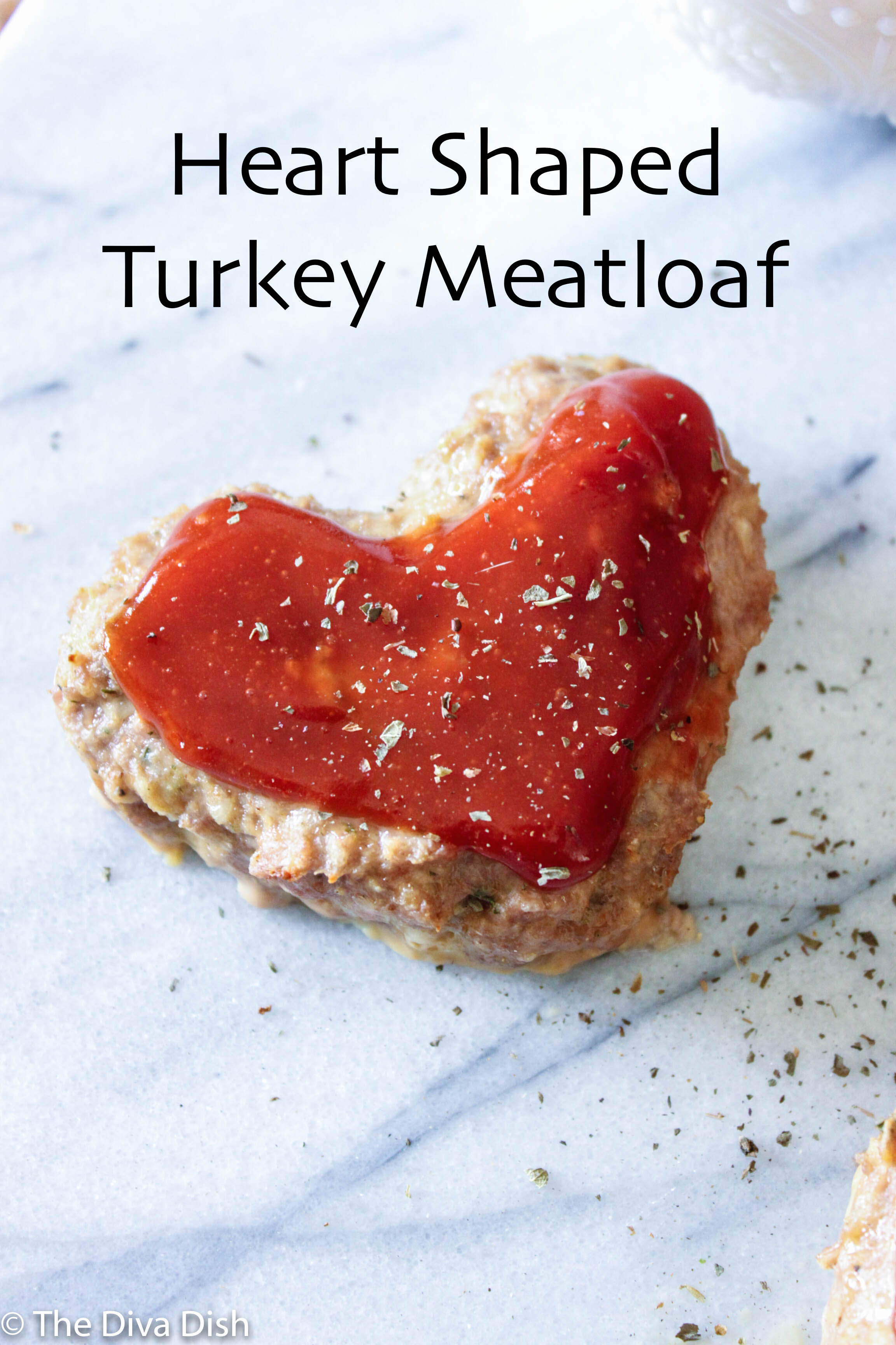 Heart Shaped Turkey Meatloaf via The Diva Dish