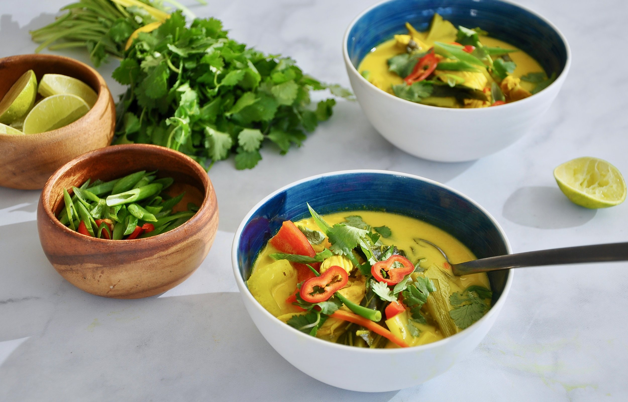 CREAMY THAI COCONUT AND CHICKEN SOUP  Private Consulting Client
