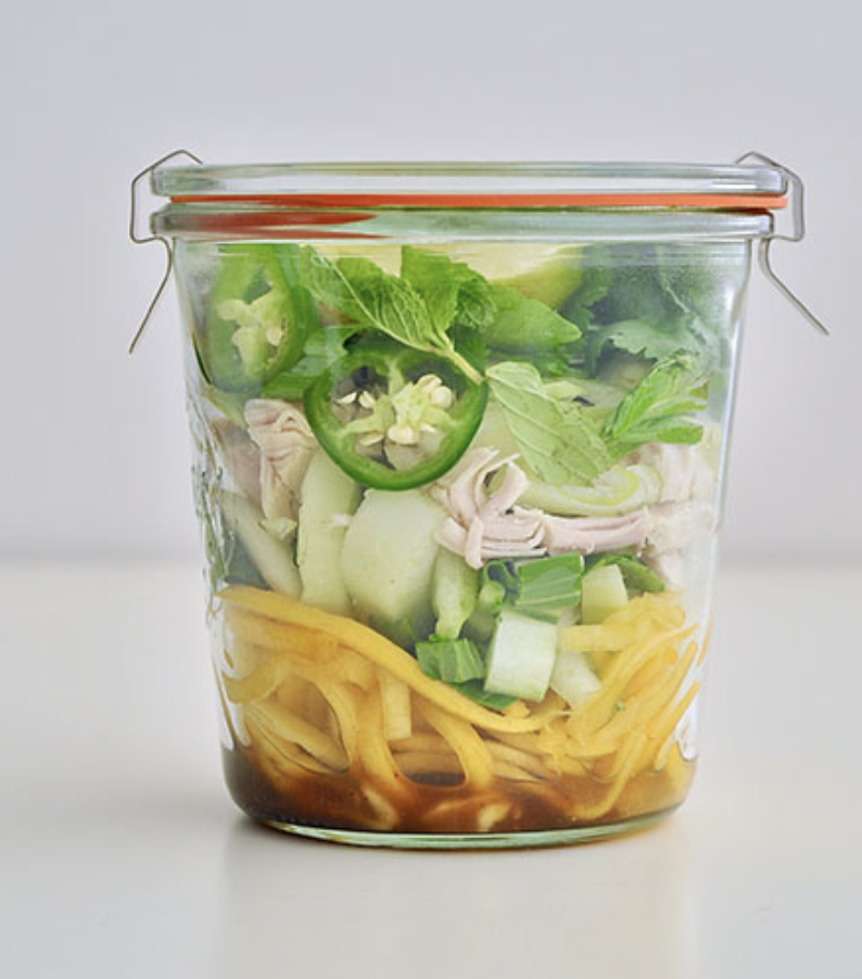FAUX CHICKEN PHO SOUP CUP  Furthermore from Equinox