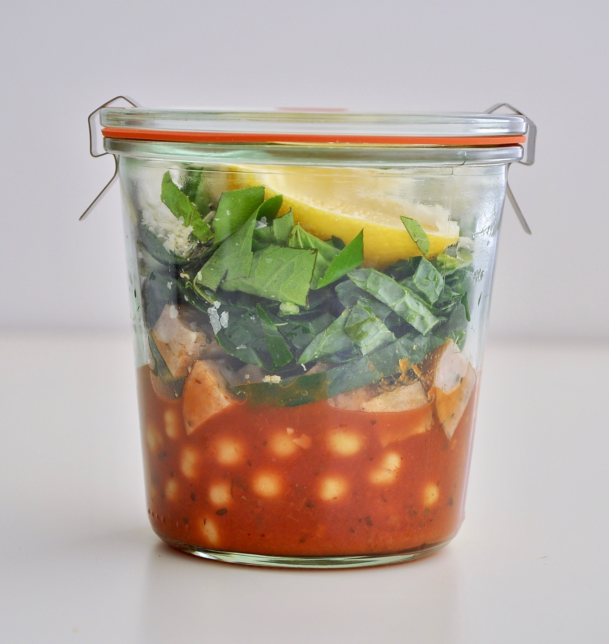 SPICY KALE AND CHORIZO SOUP CUP  Furthermore from Equinox