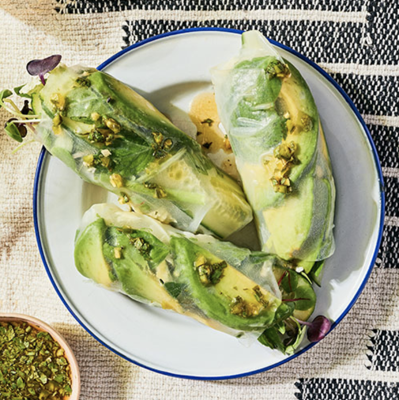 SUPER GREEN SUMMER ROLLS  Furthermore from Equinox