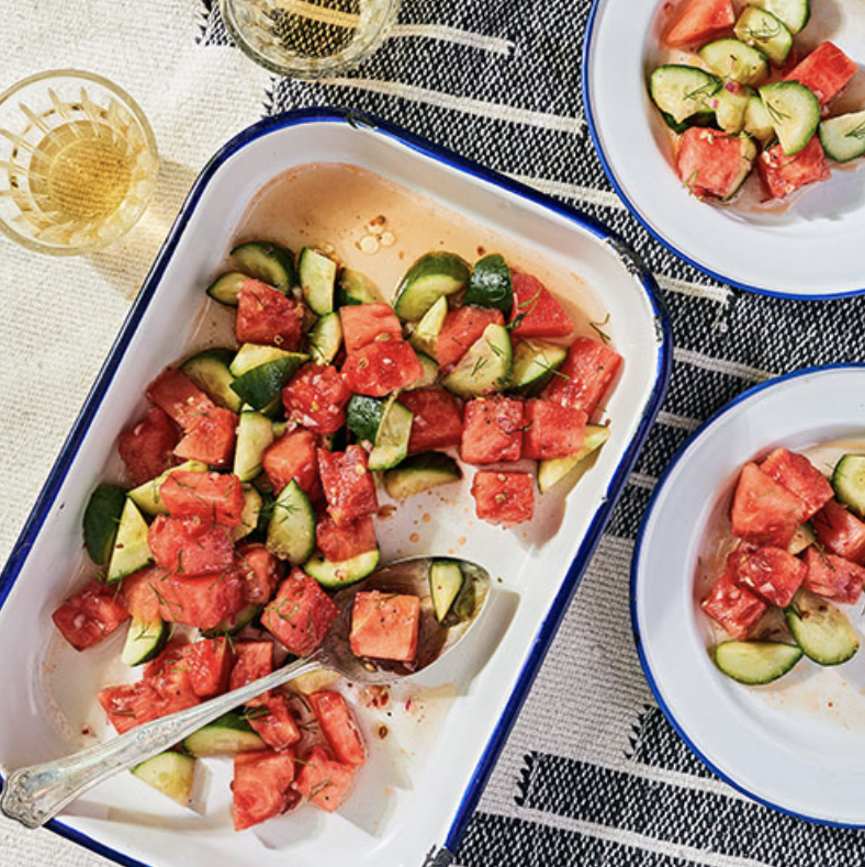 MARINATED WATERMELON AND CUCUMBER SALAD  Furthermore from Equinox