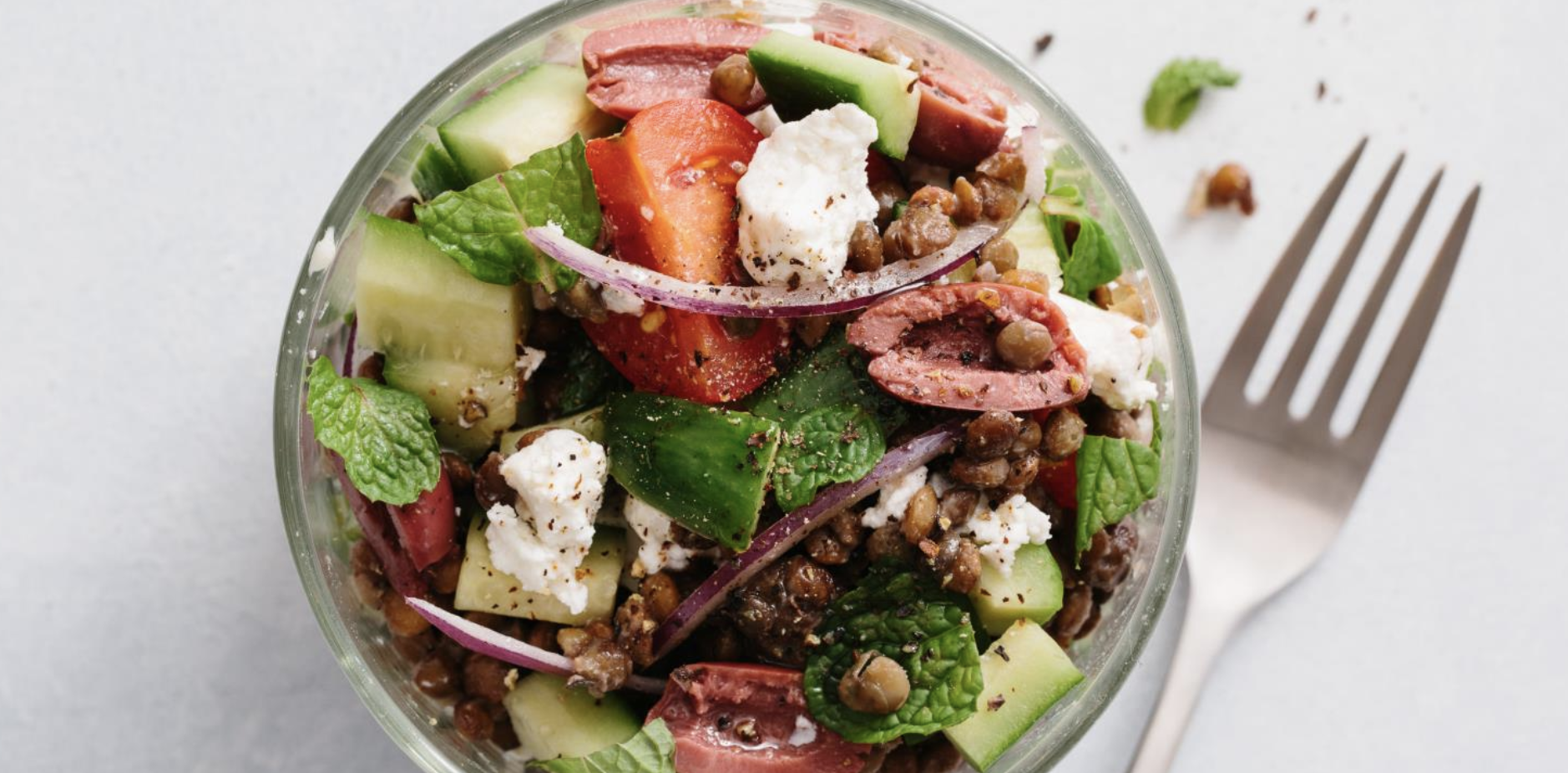 GREEK LENTIL SALAD  Furthermore from Equinox