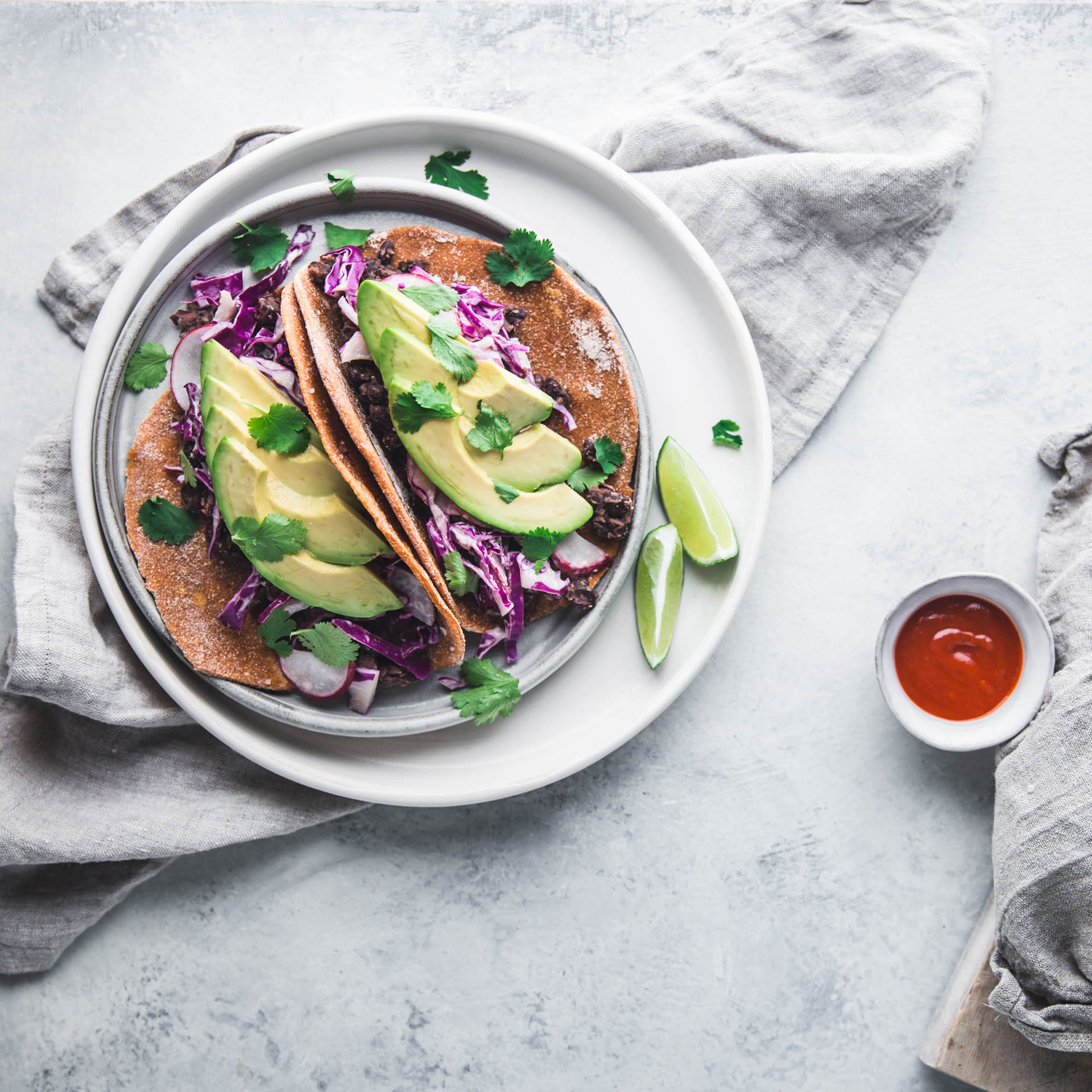 BLACK BEAN TACOS WITH SWEET POTATO TORTILLAS  Furthermore from Equinox