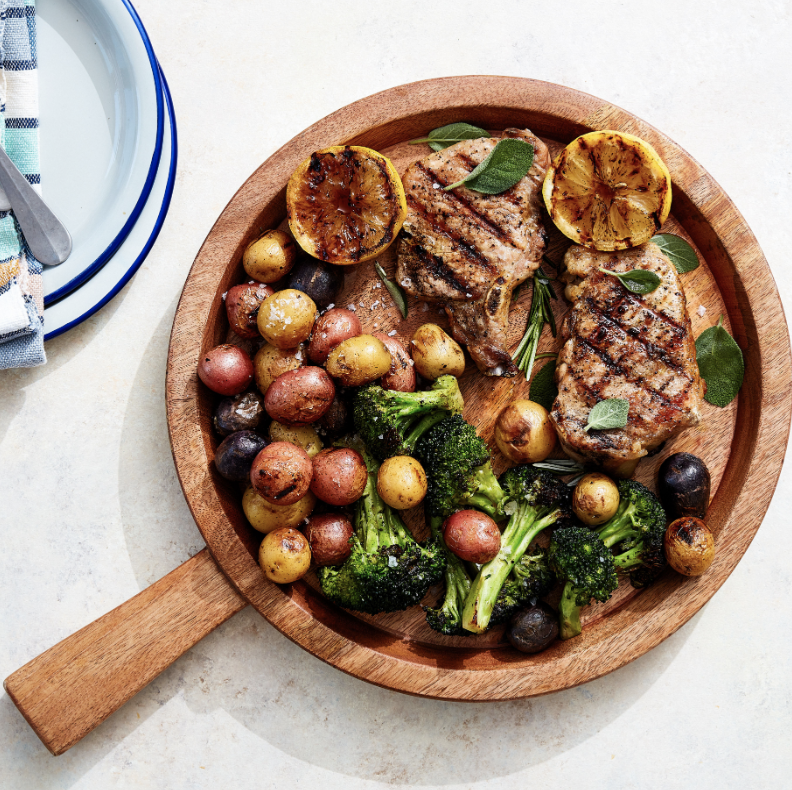 ROSEMARY AND SAGE GRILLED PORK CHOPS  Furthermore from Equinox
