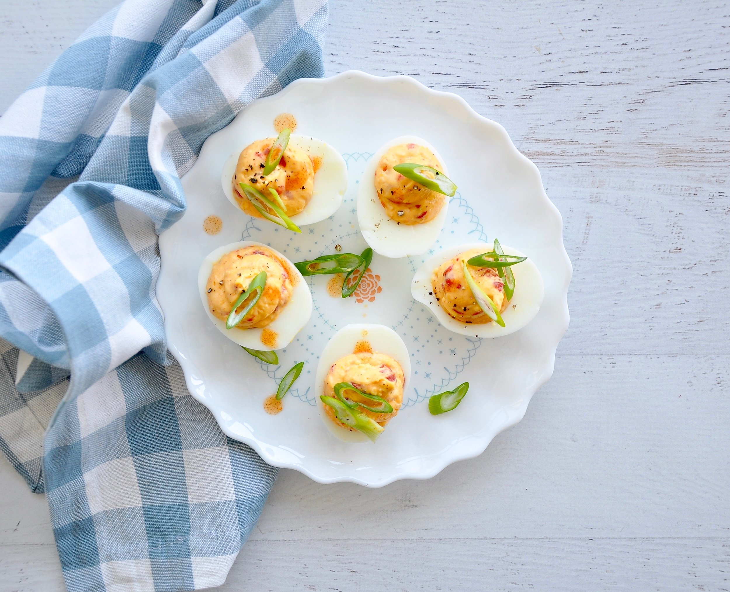 PIMENTO CHEESE DEVILED EGGS  Private Consulting Client