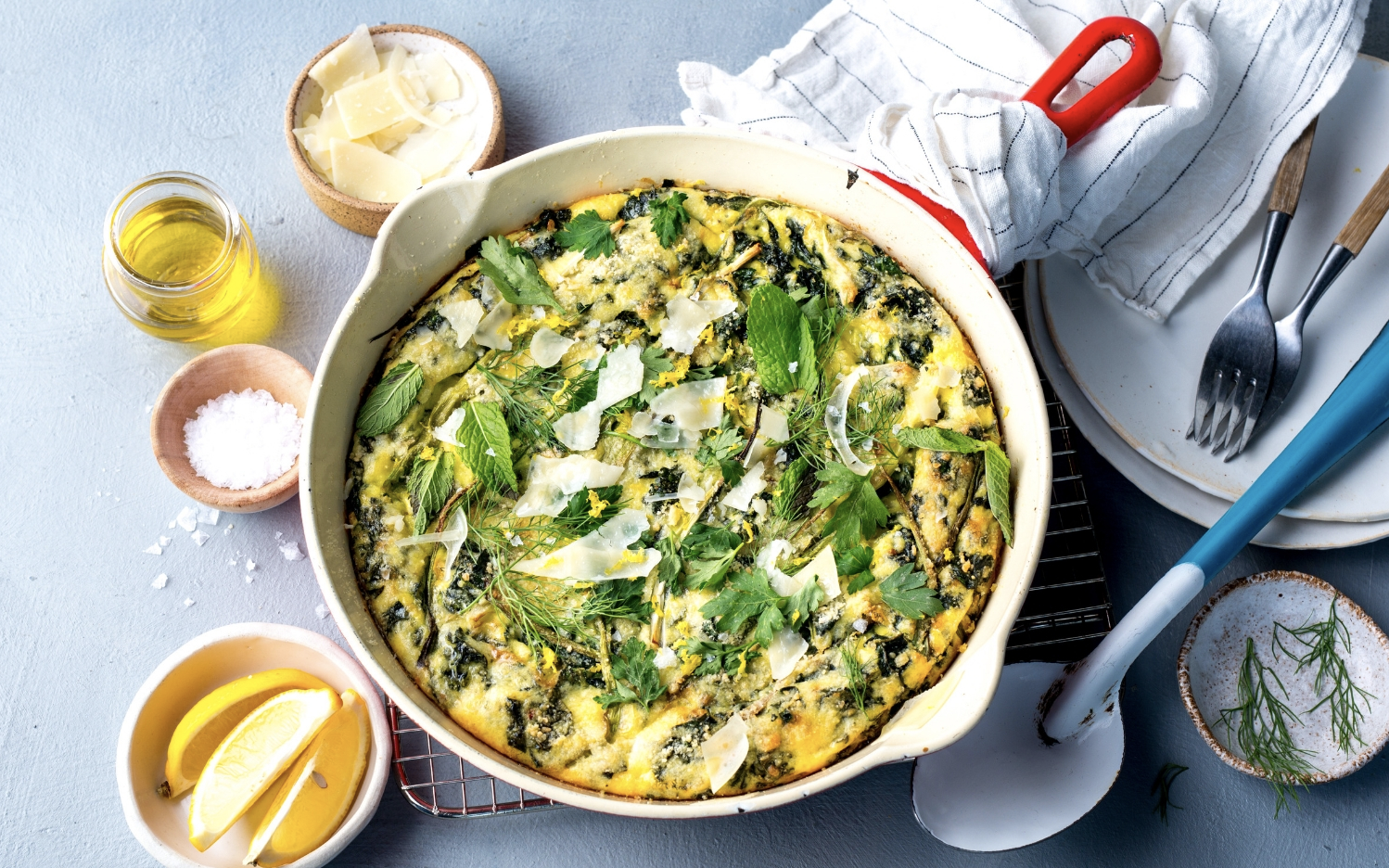 LOW-AND-SLOW SPRING ONION FRITTATA  My Fitness Pal x Under Armour