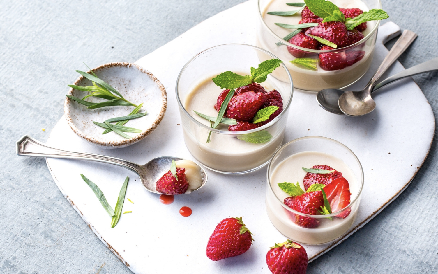 COCONUT PANNA COTTA WITH ROASTED STRAWBERRIES  My Fitness Pal x Under Armour