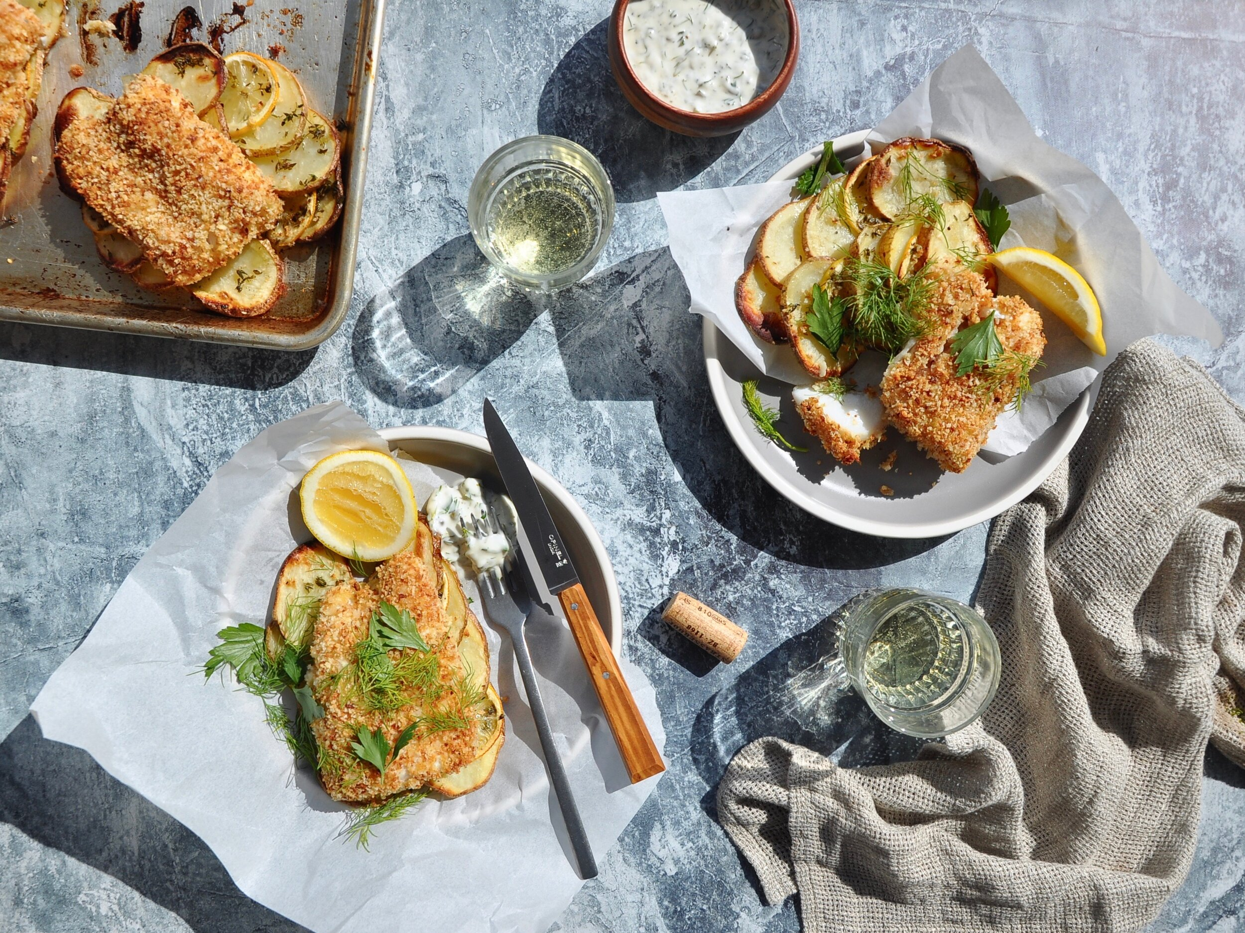 SHEET PAN FISH-AND-CHIPS  Private Consulting Client