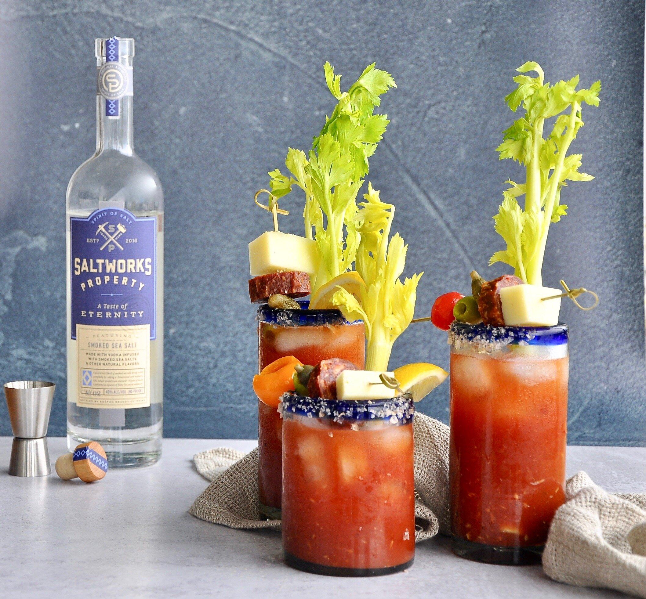 SPANISH BLOODY MARY  Saltworks Property Vodka