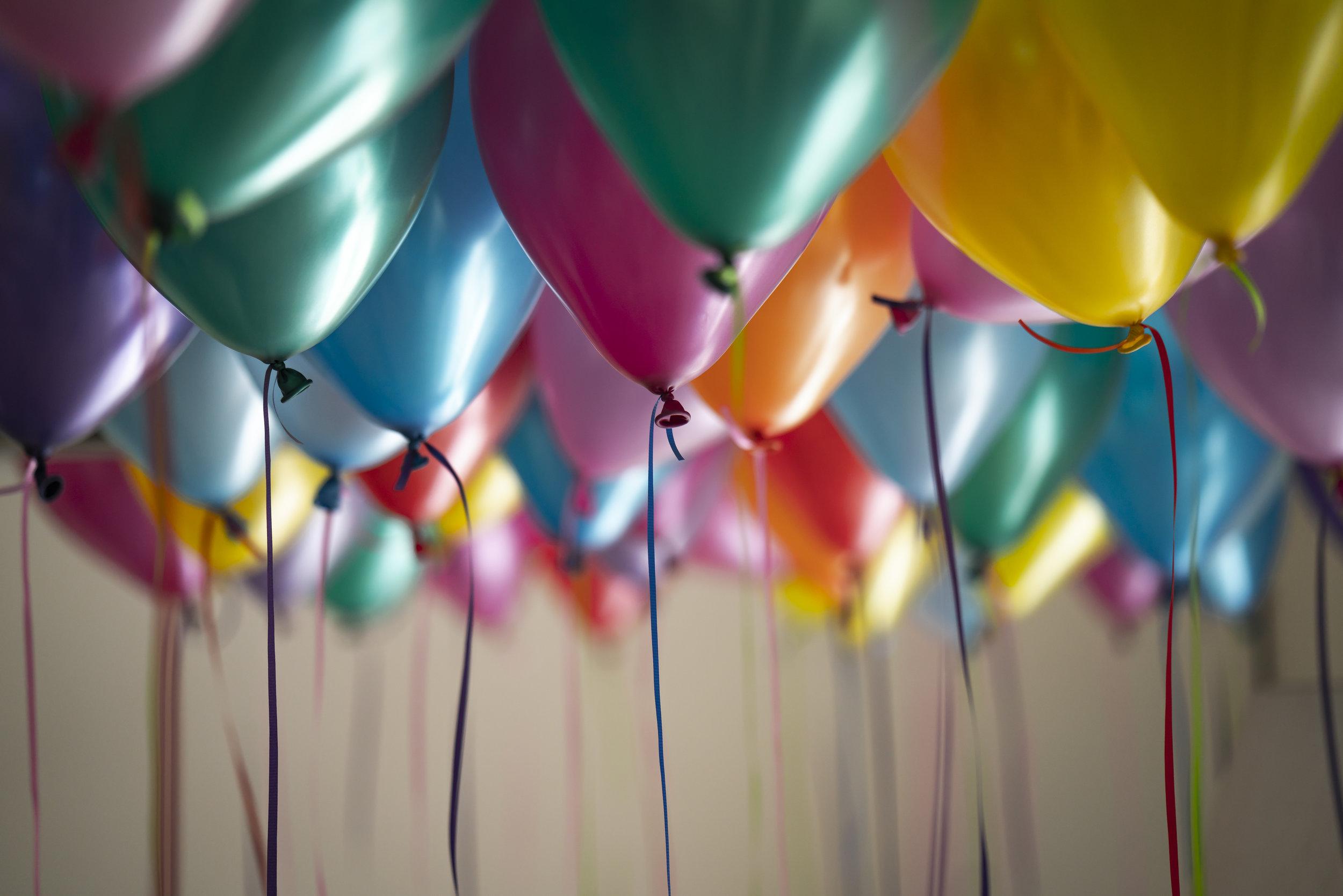 Birthday balloons by Unsplash