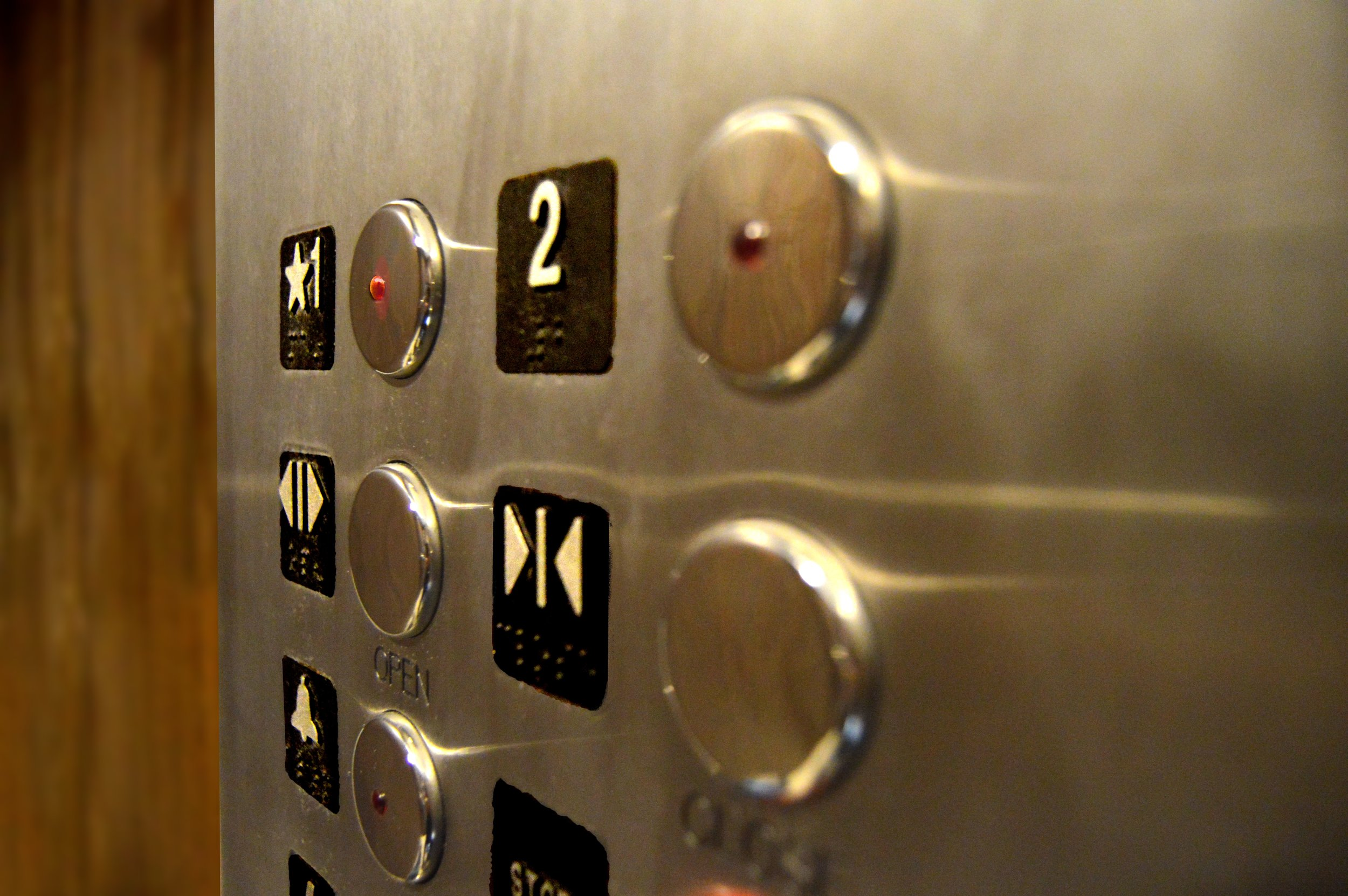 Photo of elevator buttons by Unsplash